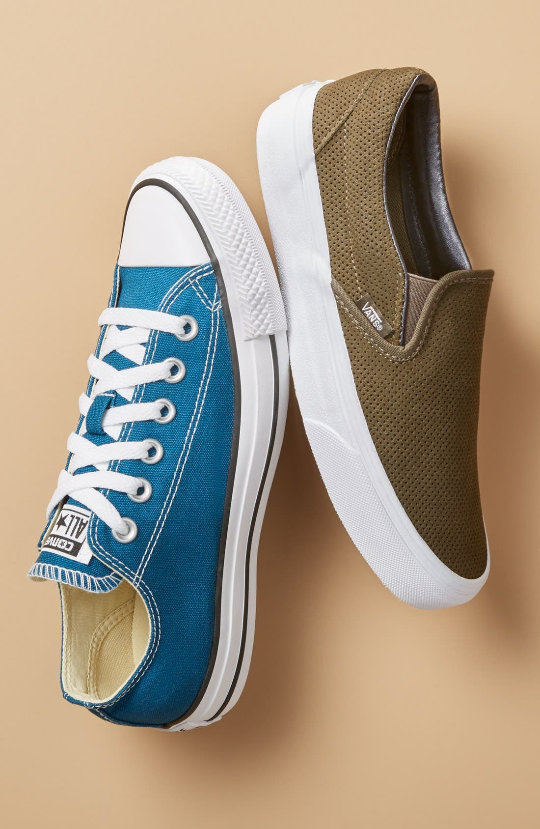 Chuck Taylor<sup>®</sup> All Star<sup>®</sup> Seasonal Ox Low Top Sneaker,                             Alternate thumbnail 7, color,                             BLUE FIR