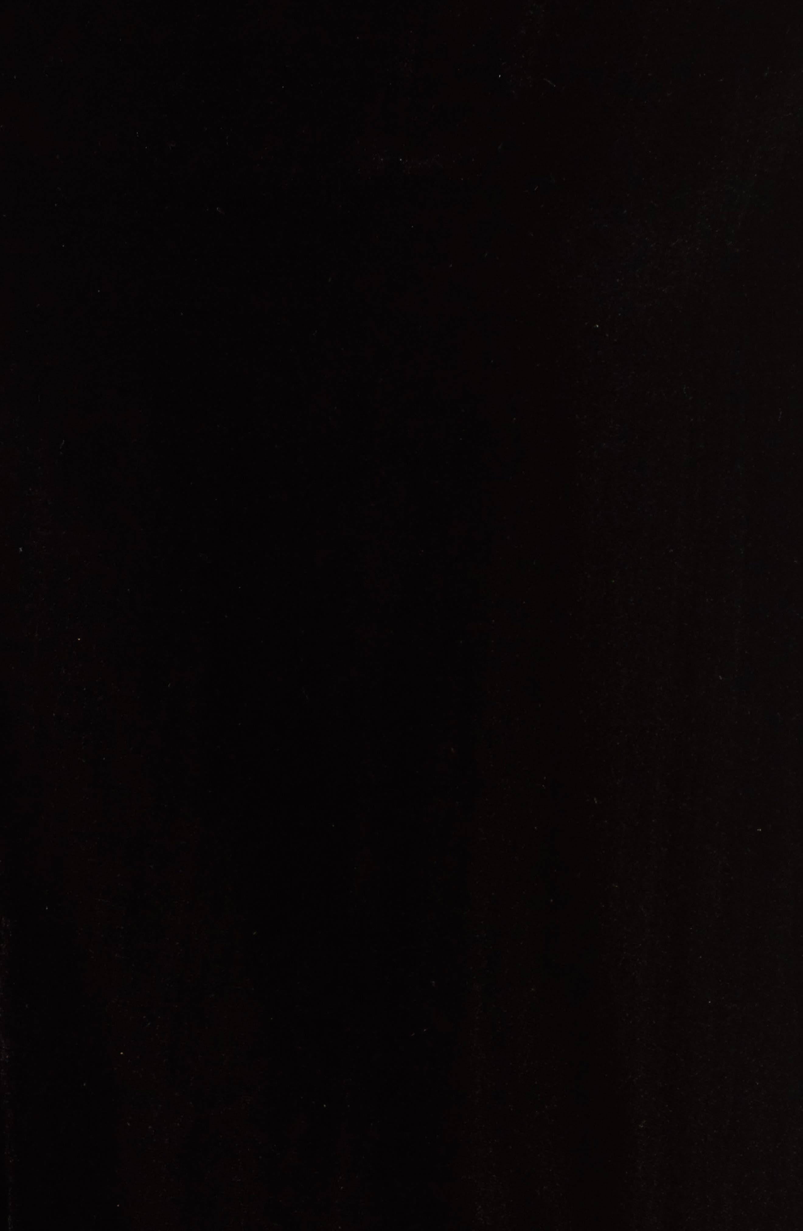 Zipper Velvet Sweatshirt,                             Alternate thumbnail 5, color,                             BLACK