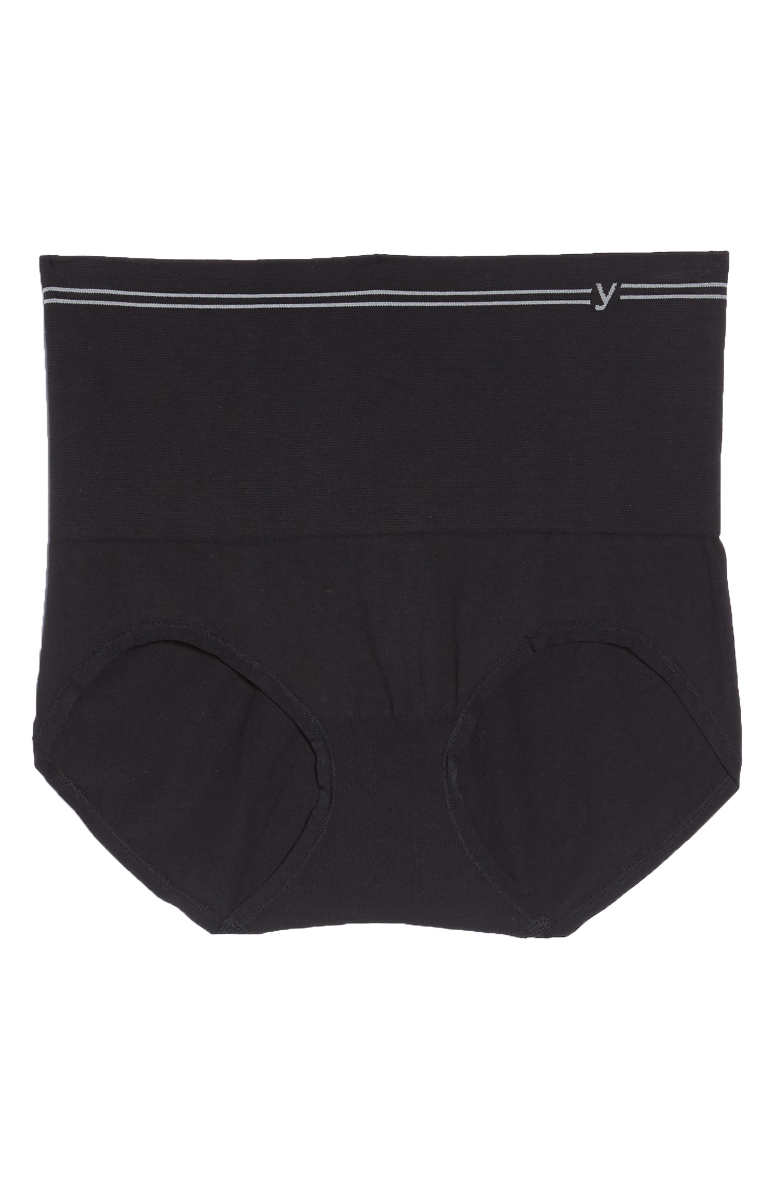 Seamless Shaping Briefs,                             Alternate thumbnail 6, color,                             BLACK