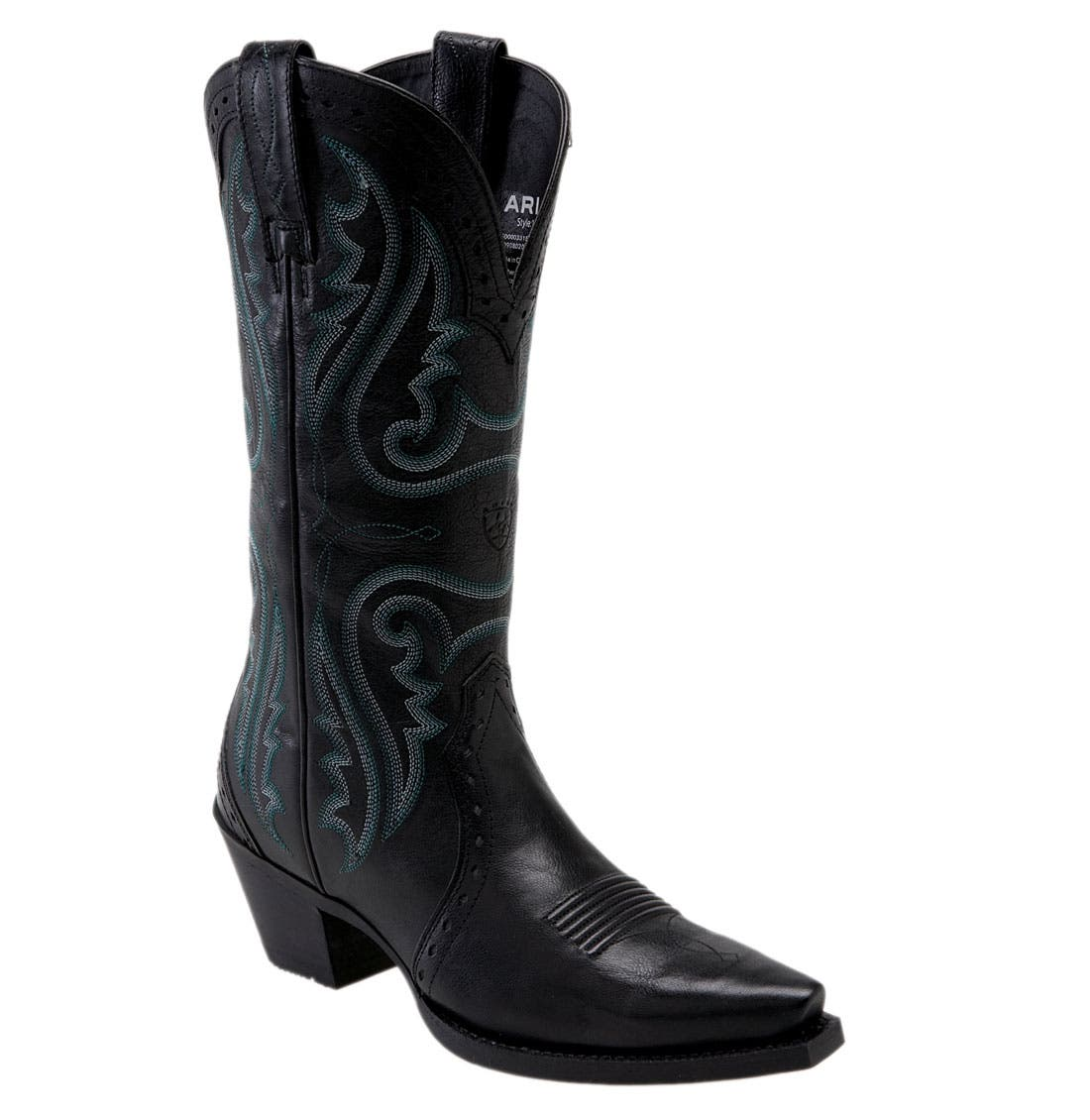 'Western Heritage X Toe' Boot,                         Main,                         color, 001