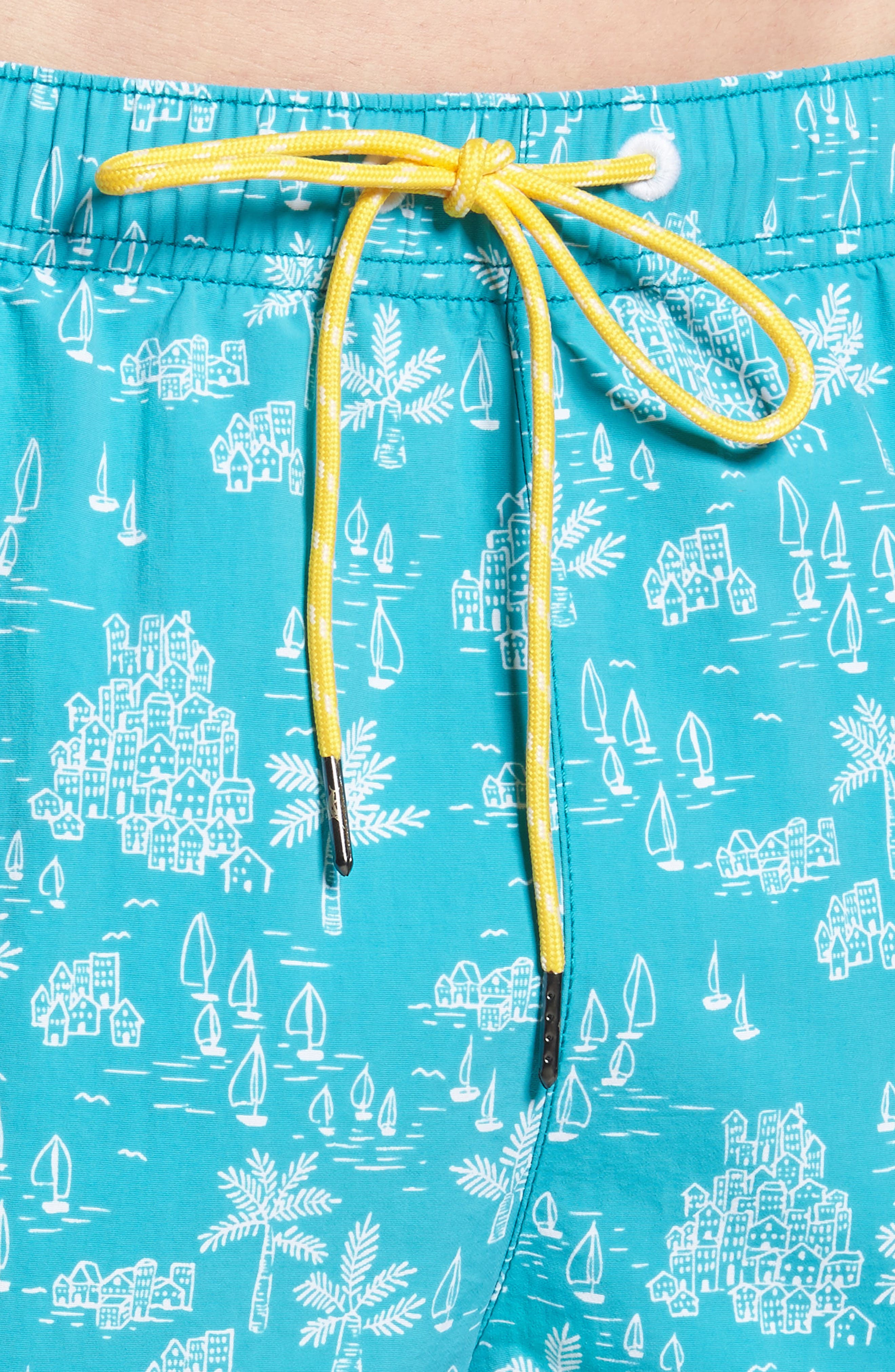 Naples Santorini Sails Swim Trunks,                             Alternate thumbnail 4, color,
