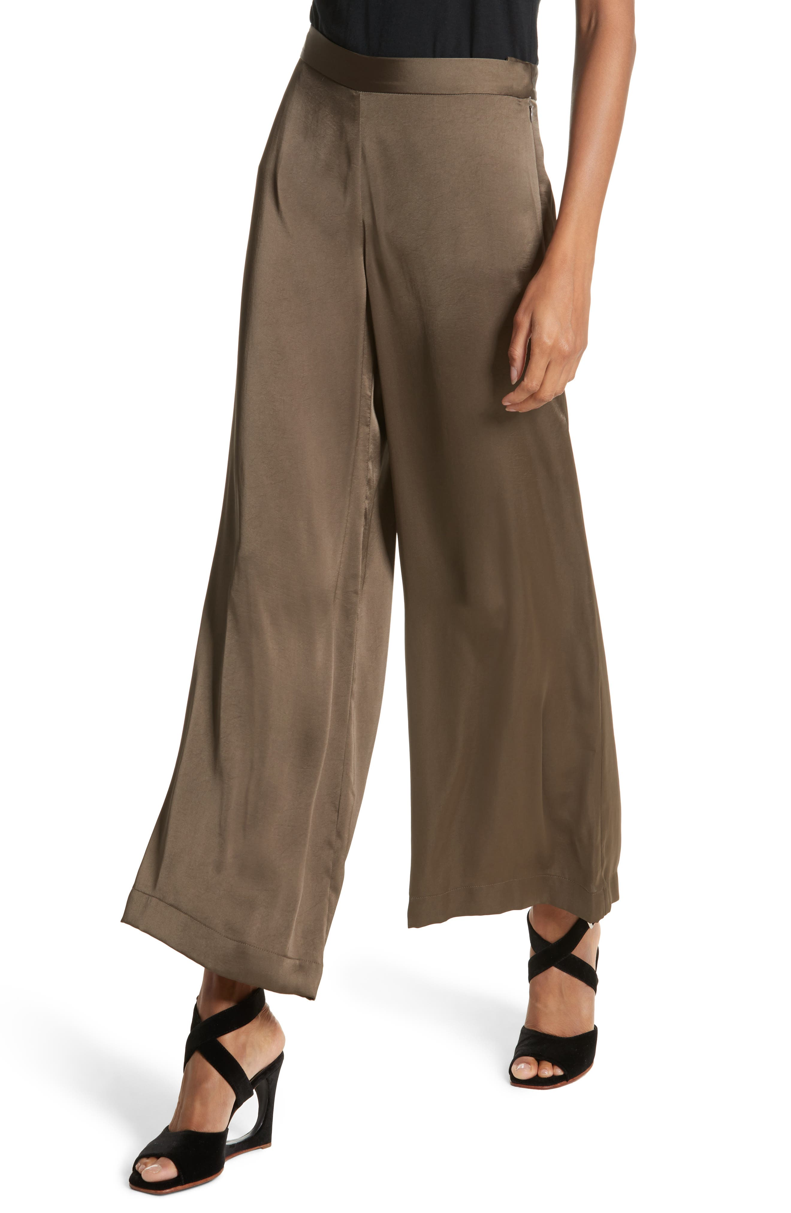 Cleric Satin Wide Leg Pants,                             Alternate thumbnail 4, color,                             265