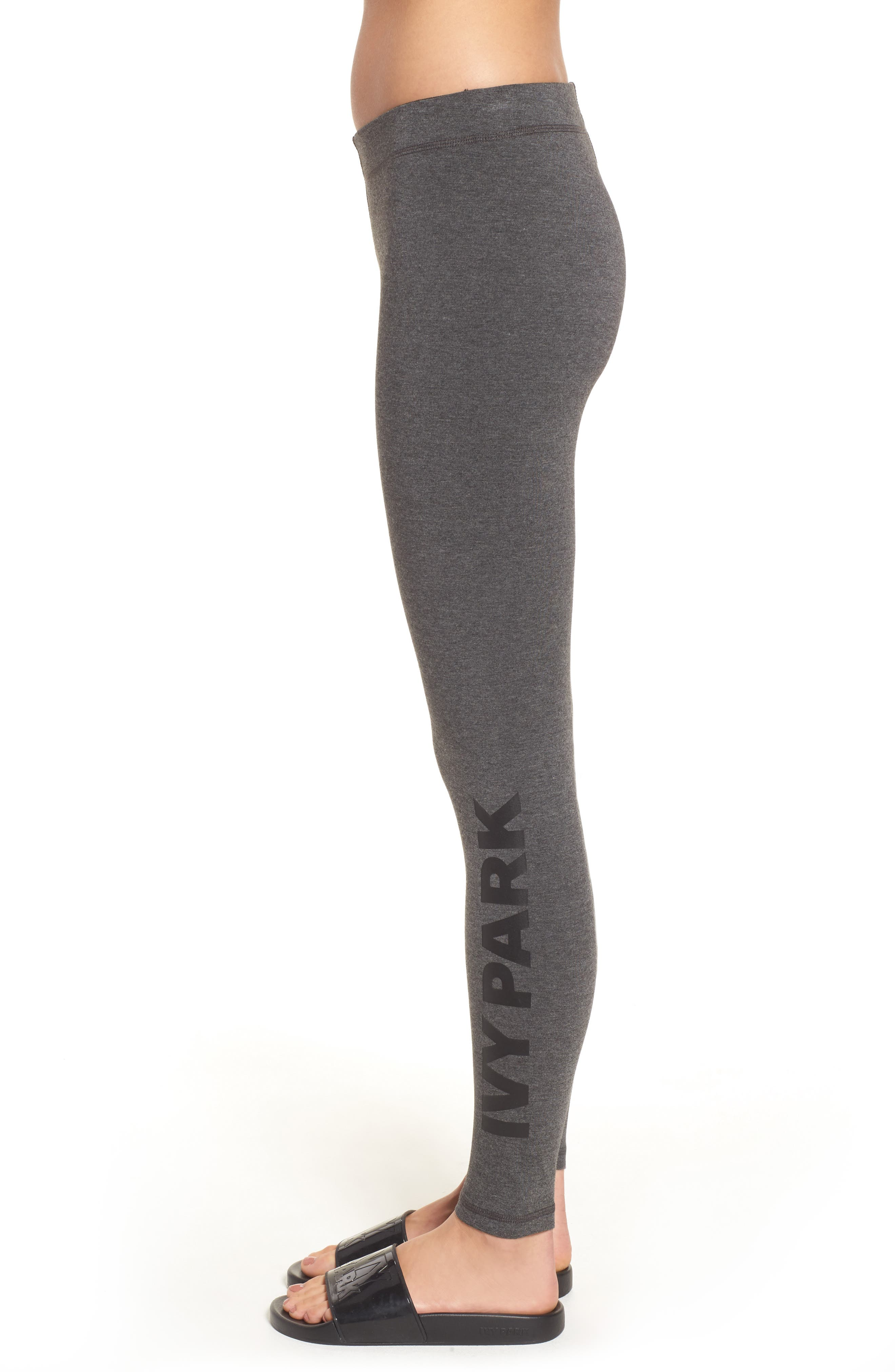 Logo Ankle Leggings,                             Alternate thumbnail 3, color,                             020