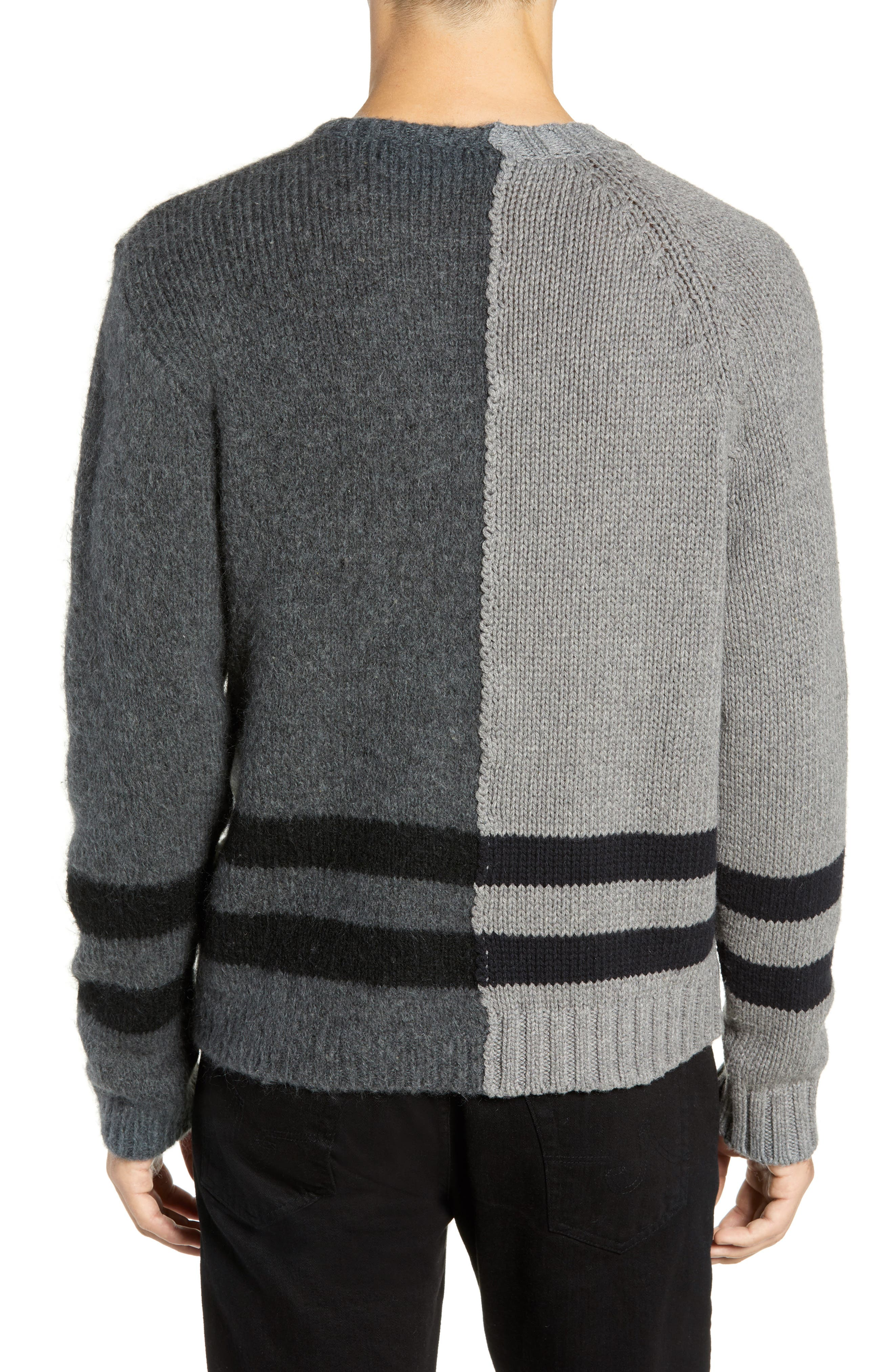 FRENCH CONNECTION,                             Regular Fit Colorblock Stripe Detail Sweater,                             Alternate thumbnail 2, color,                             020