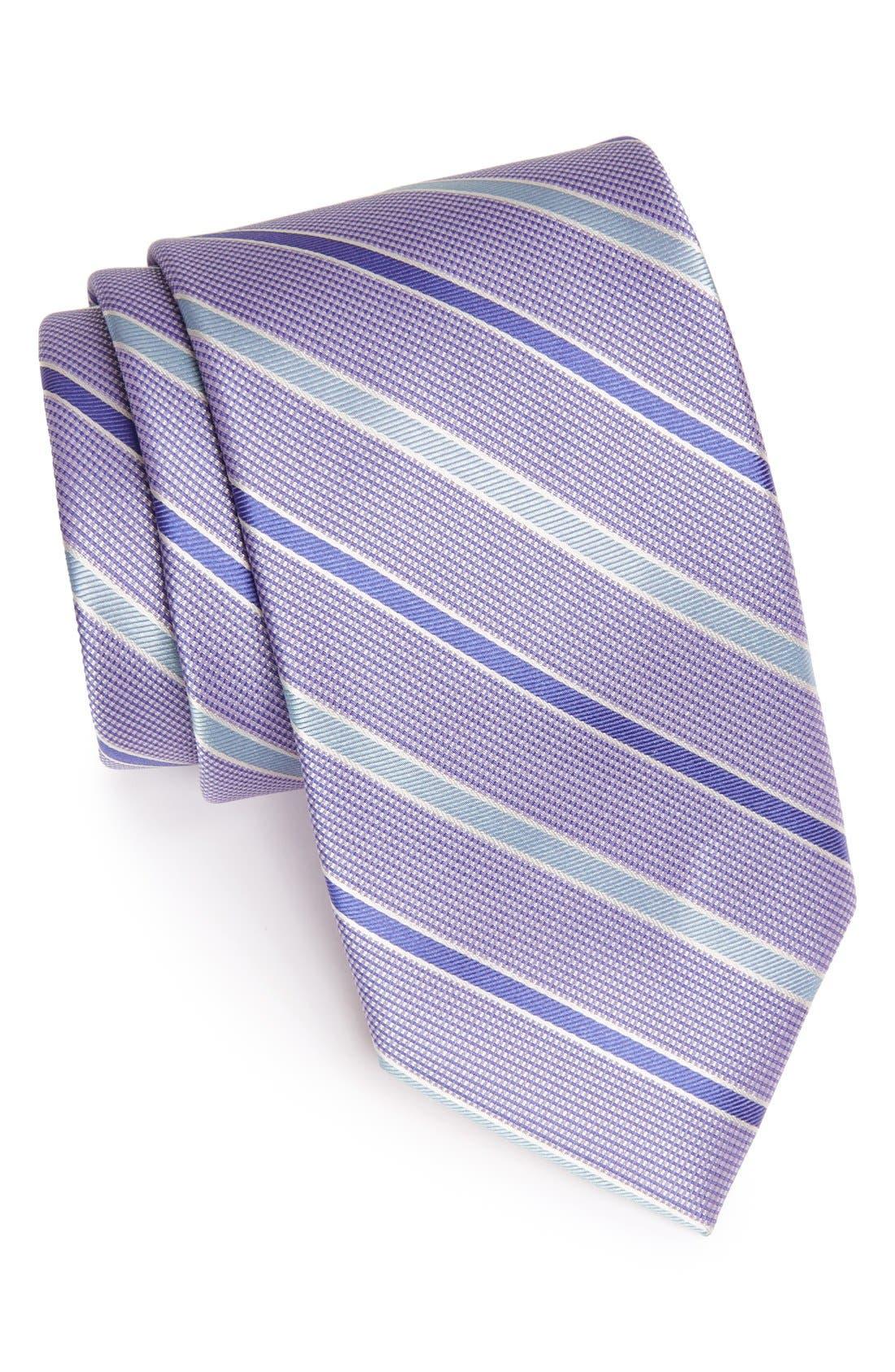 Stripe Woven Silk Tie, Main, color, 568