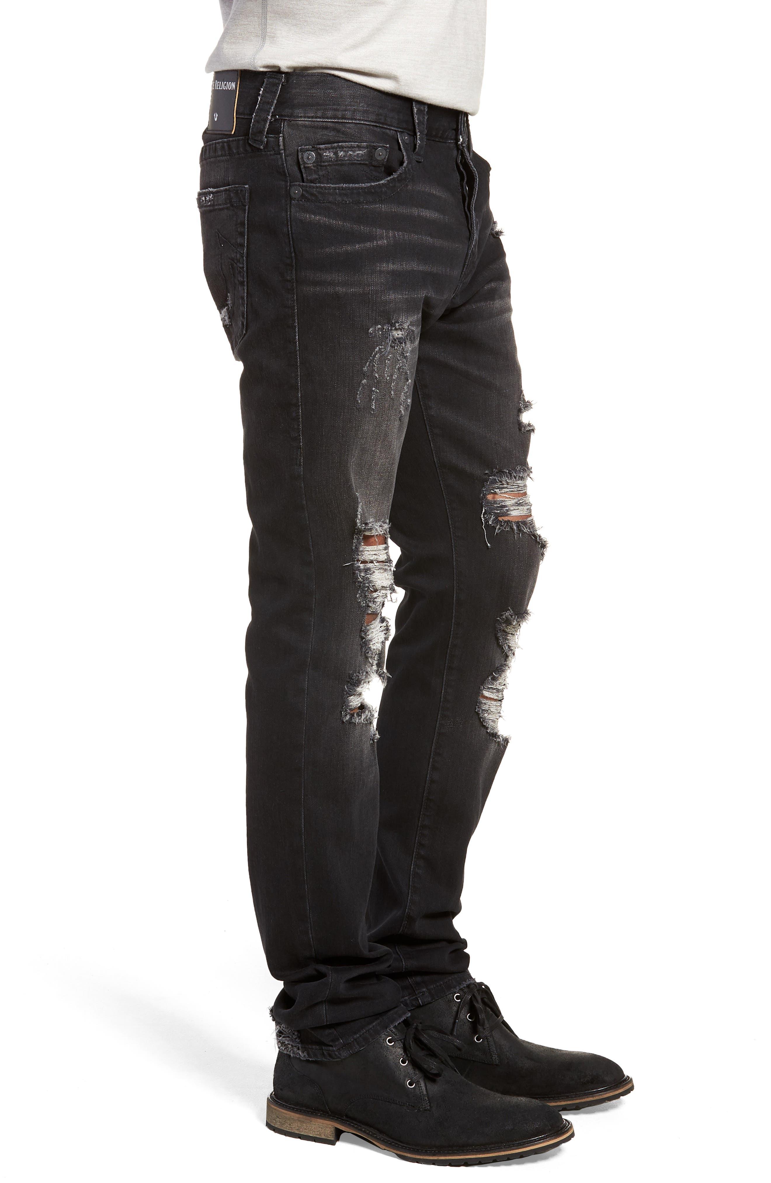 Rocco Skinny Fit Jeans,                             Alternate thumbnail 3, color,                             EQYD DARK STREET