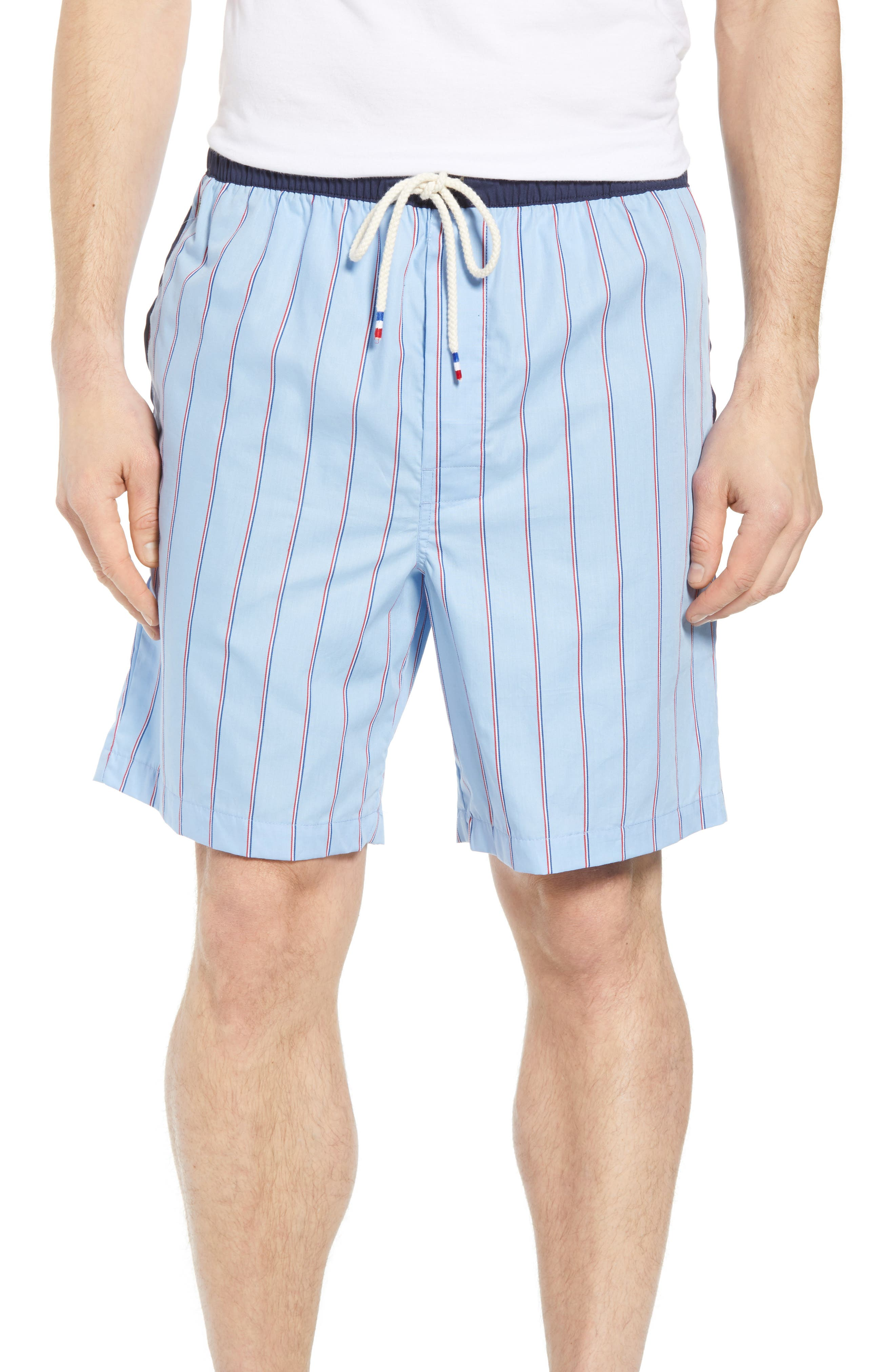 Cotton Sleep Shorts,                             Main thumbnail 1, color,                             OMPHALODES