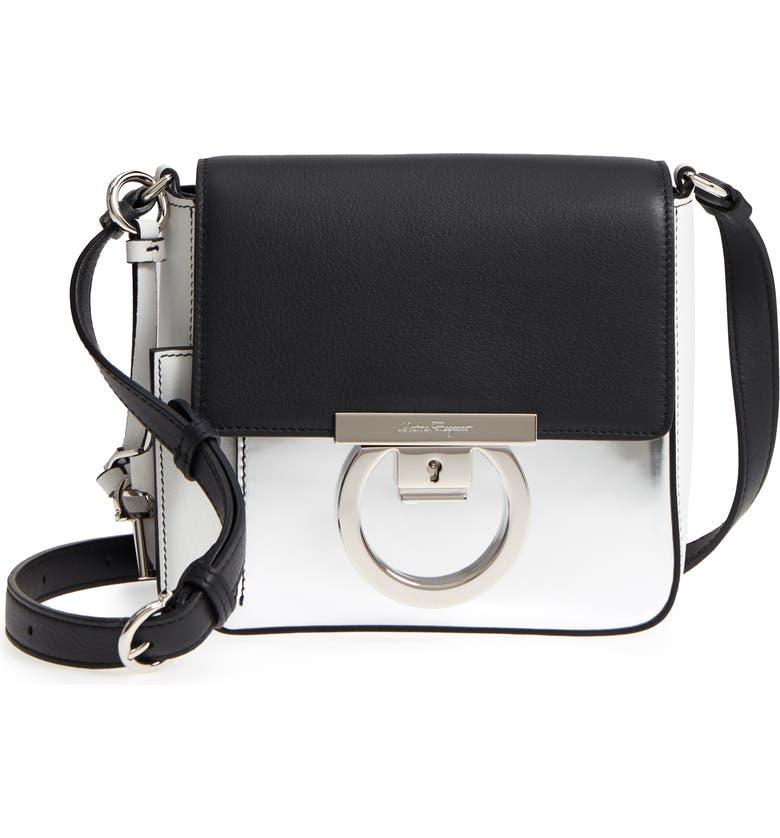 Salvatore Ferragamo Gancio Lock Leather Crossbody Bag  ca1be0e45febb