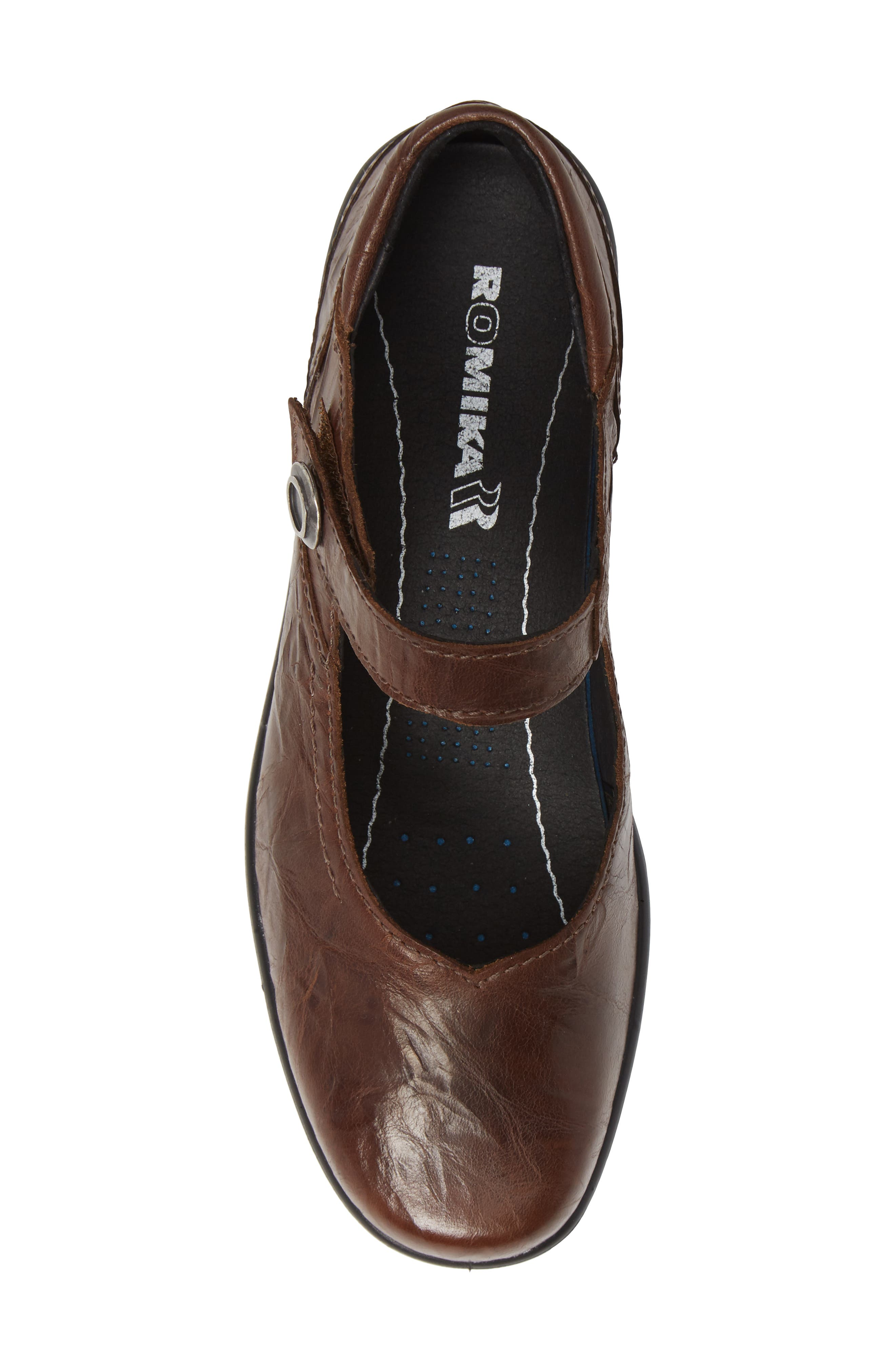 Cassie 50 Mary Jane Flat,                             Alternate thumbnail 5, color,                             BROWN LEATHER
