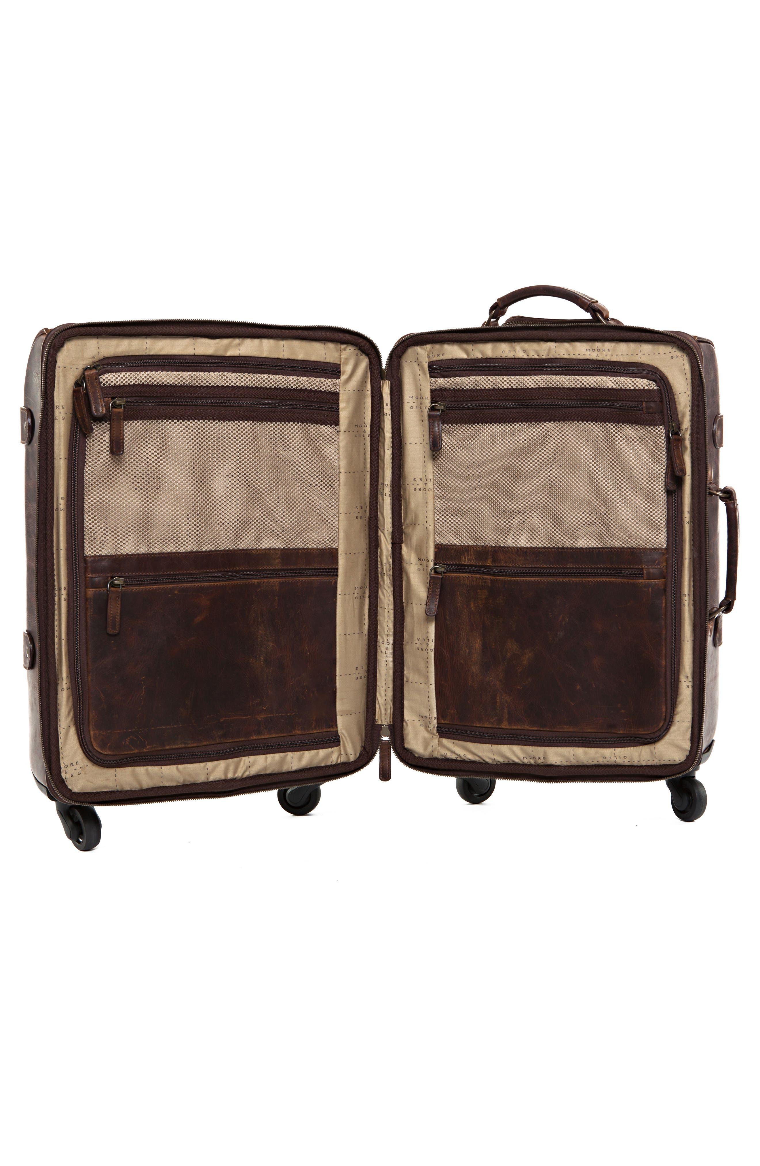 Parker 22-Inch Leather Wheeled Suitcase,                             Alternate thumbnail 2, color,                             BALDWIN OAK