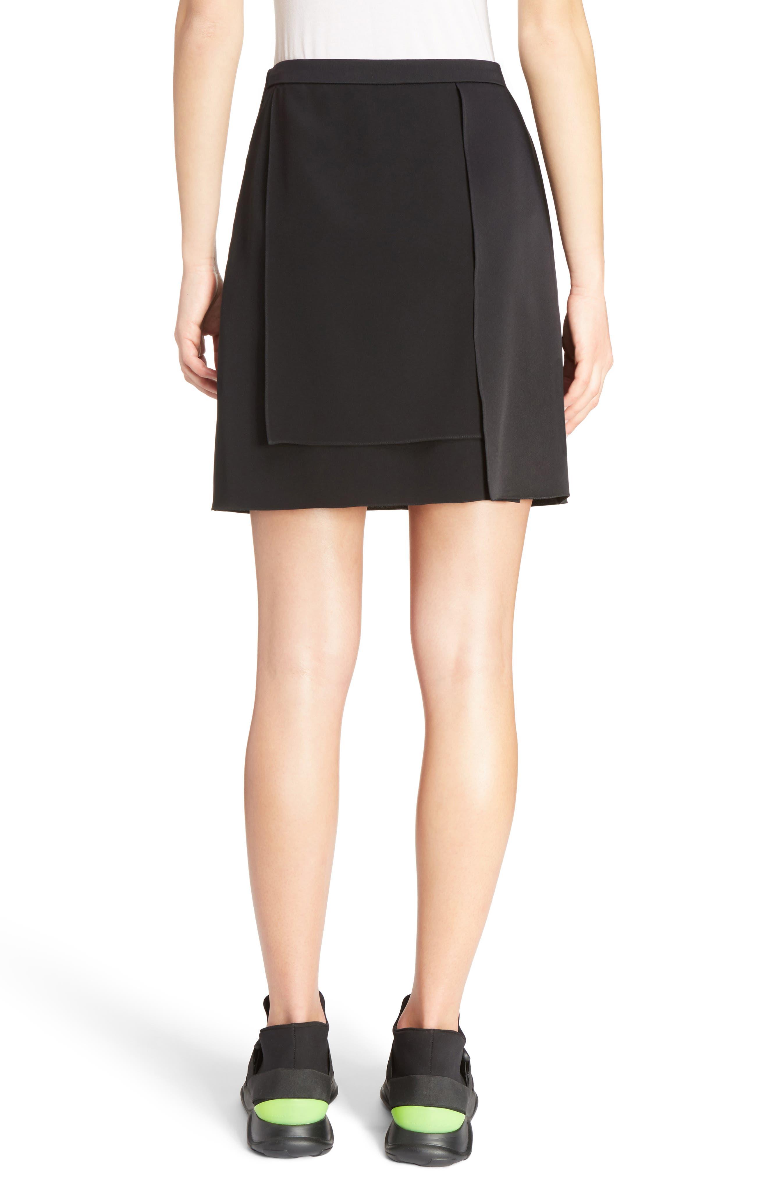 Layered Miniskirt,                             Alternate thumbnail 2, color,                             001