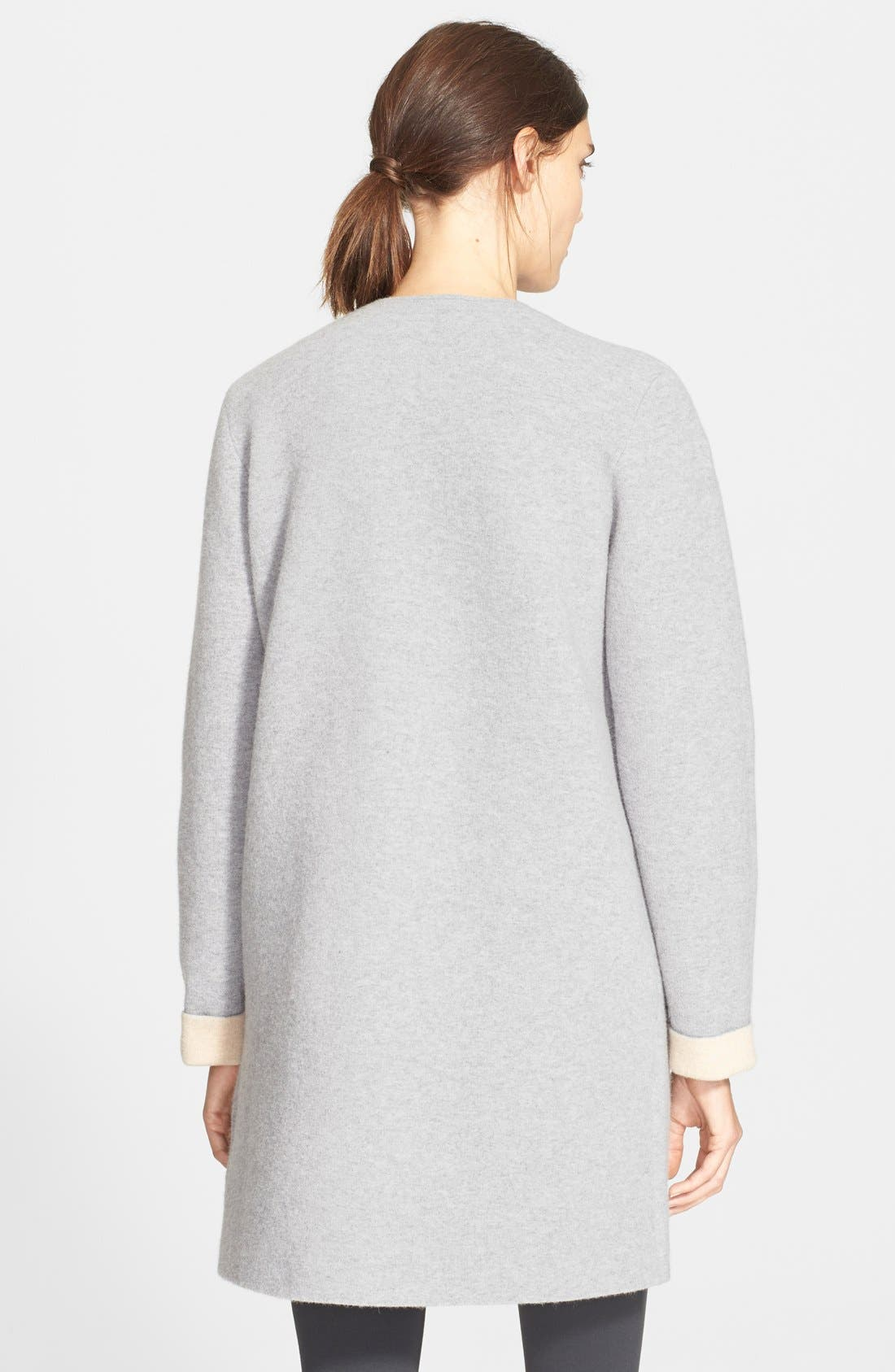 THEORY,                             'Nyma K' Merino Wool Blend Coat,                             Alternate thumbnail 3, color,                             092