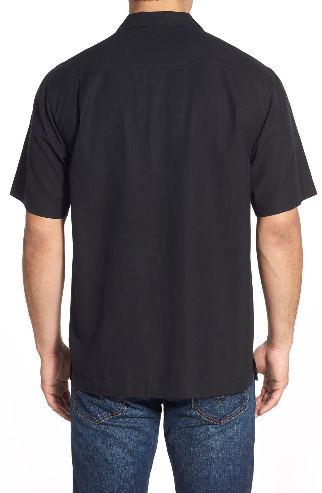 Java Dobby Original Fit Silk Camp Shirt,                             Alternate thumbnail 2, color,                             001