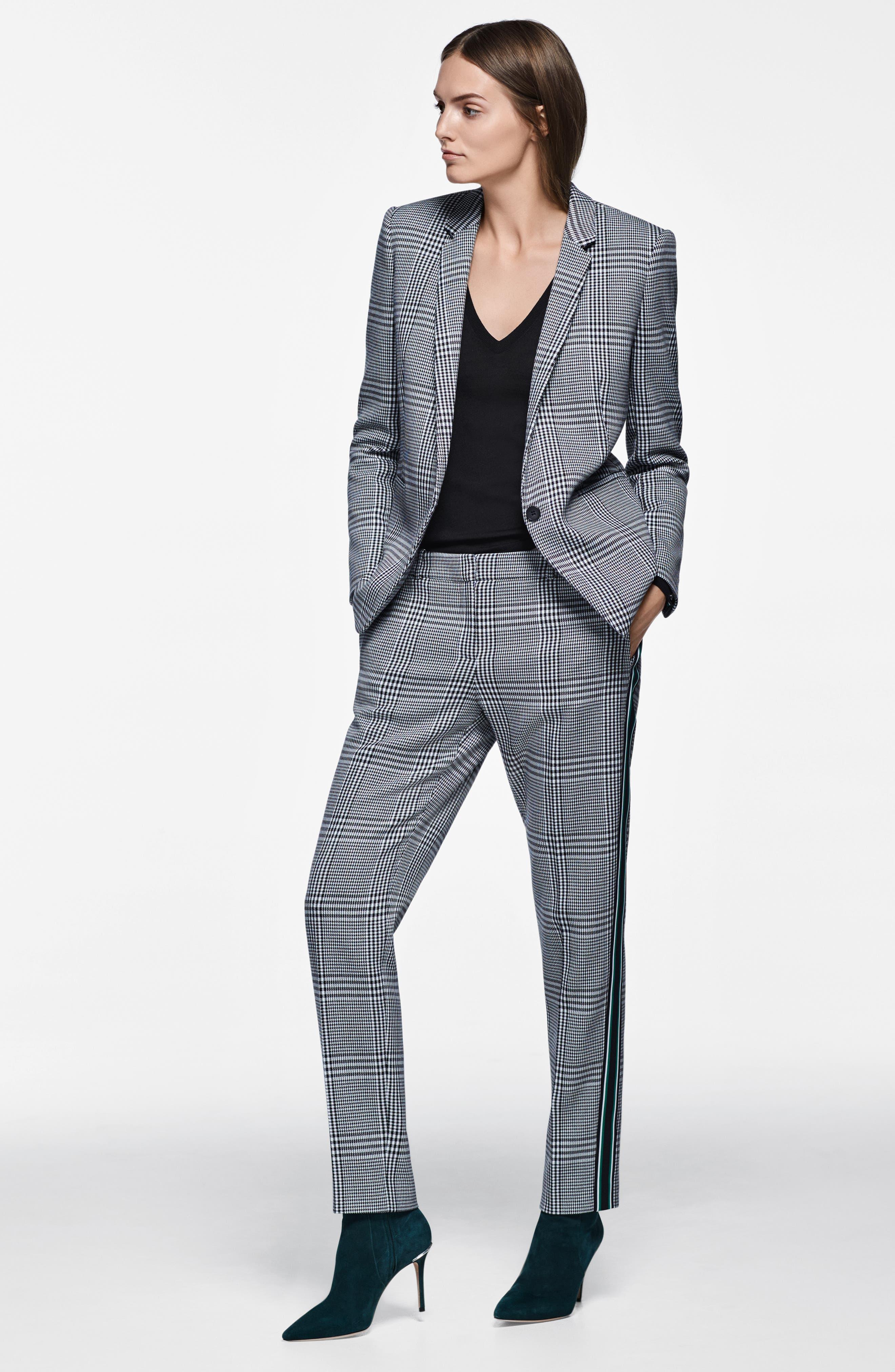 Jemaromina Glen Plaid Suit Jacket,                             Alternate thumbnail 8, color,                             GLENCHECK FANTASY