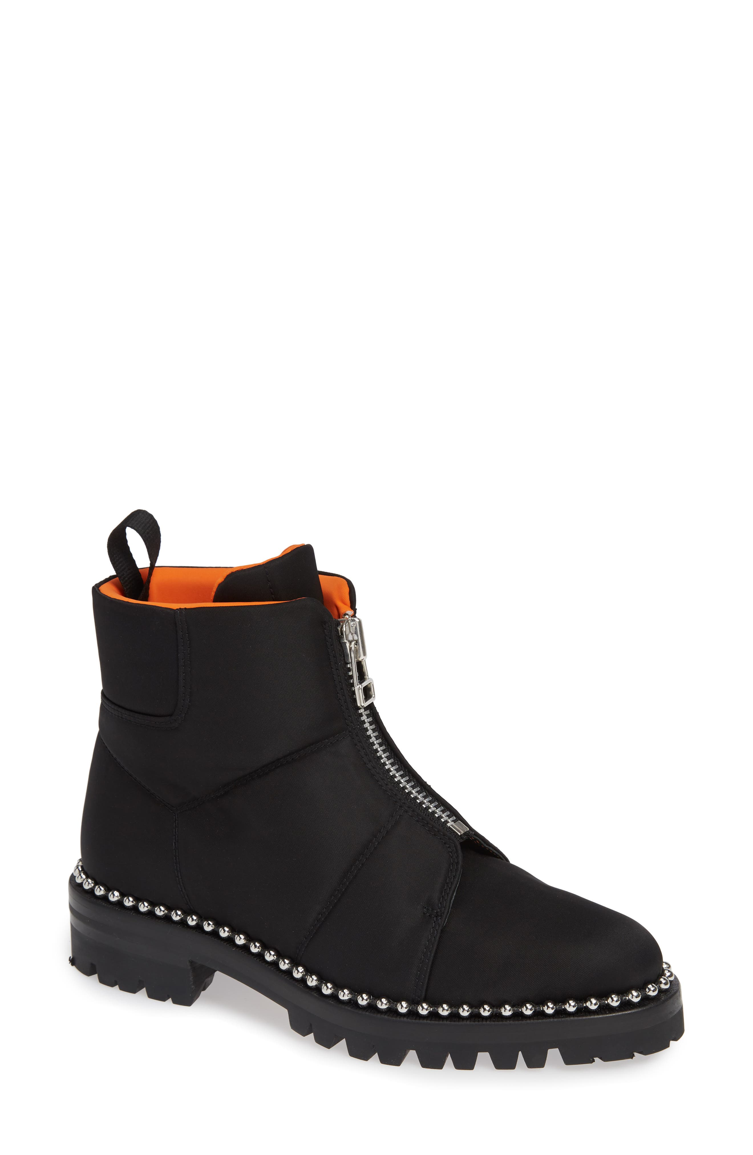Cooper Studded Boot,                             Main thumbnail 1, color,                             BLACK