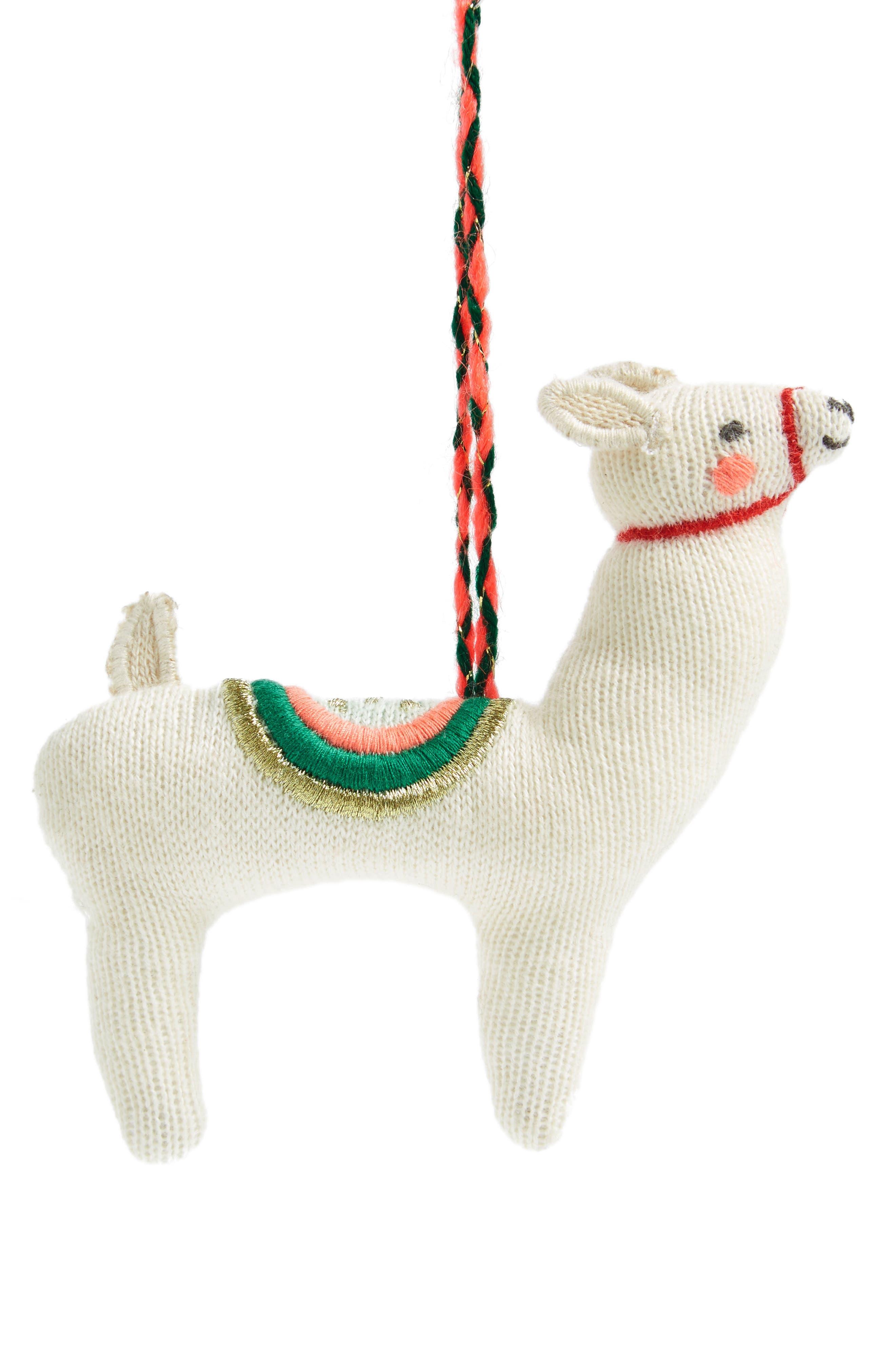 MERI MERI,                             Knit Llama Ornament,                             Main thumbnail 1, color,                             600