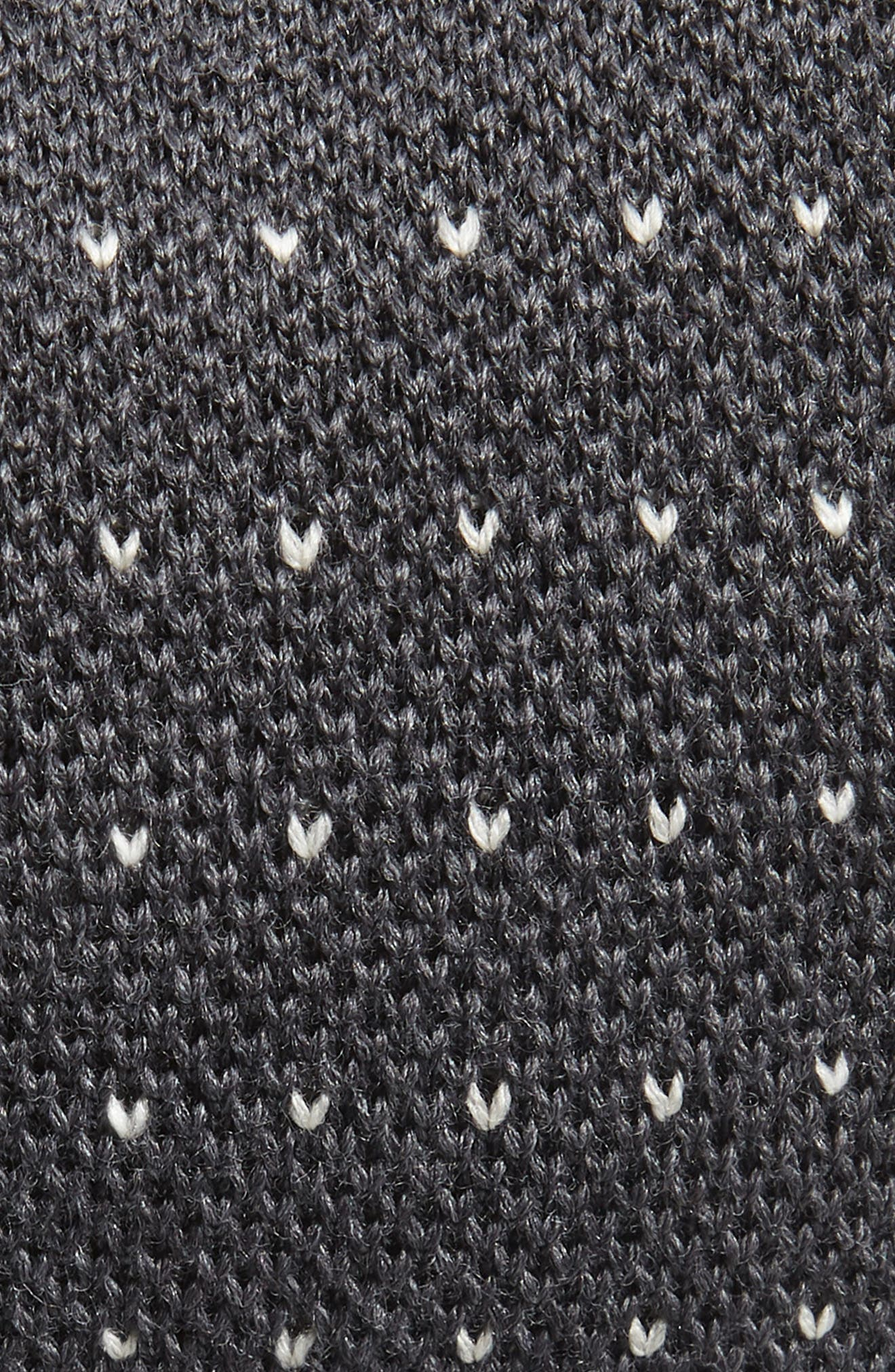 Stitch Wool Knit Tie,                             Alternate thumbnail 2, color,                             GREY/ WHITE