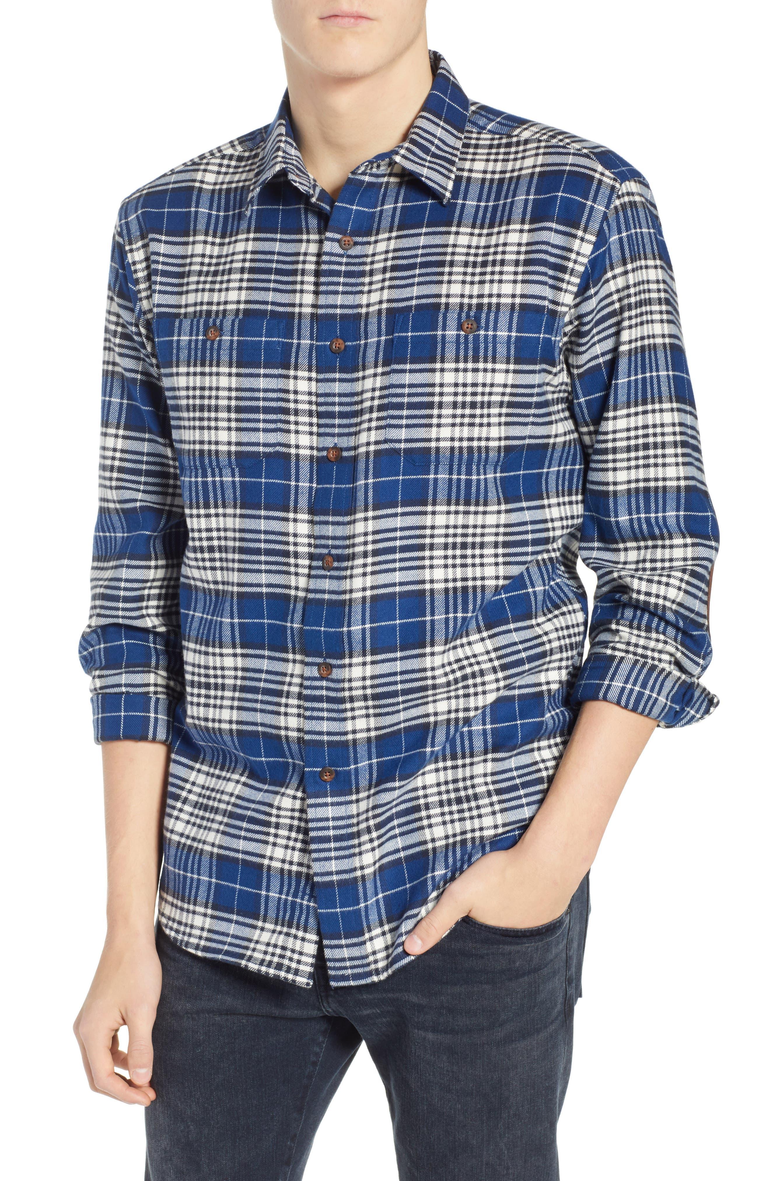 Pendleton Hawthorne Plaid Flannel Shirt, Blue