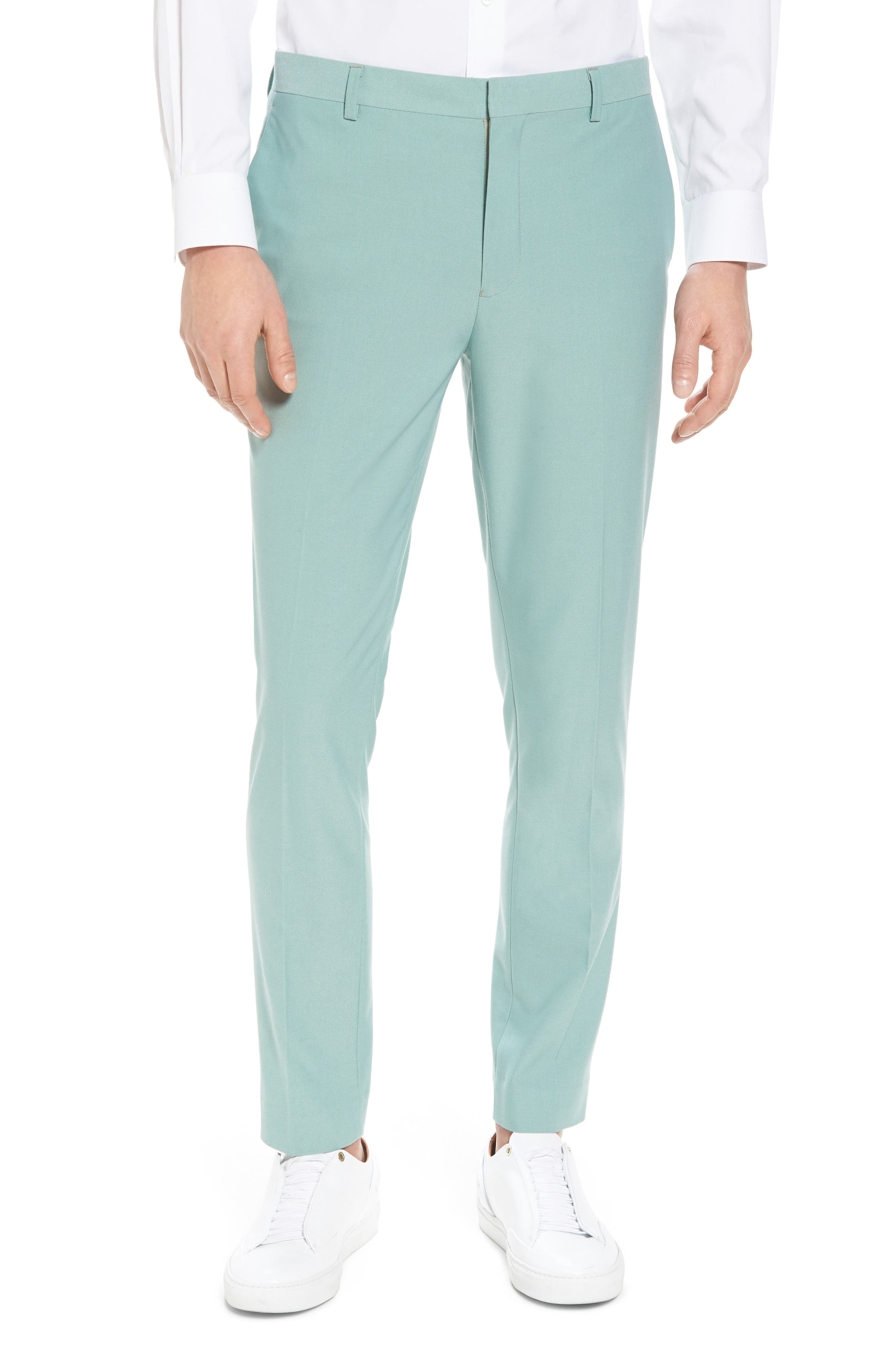 Skinny Fit Suit Trousers,                             Main thumbnail 1, color,