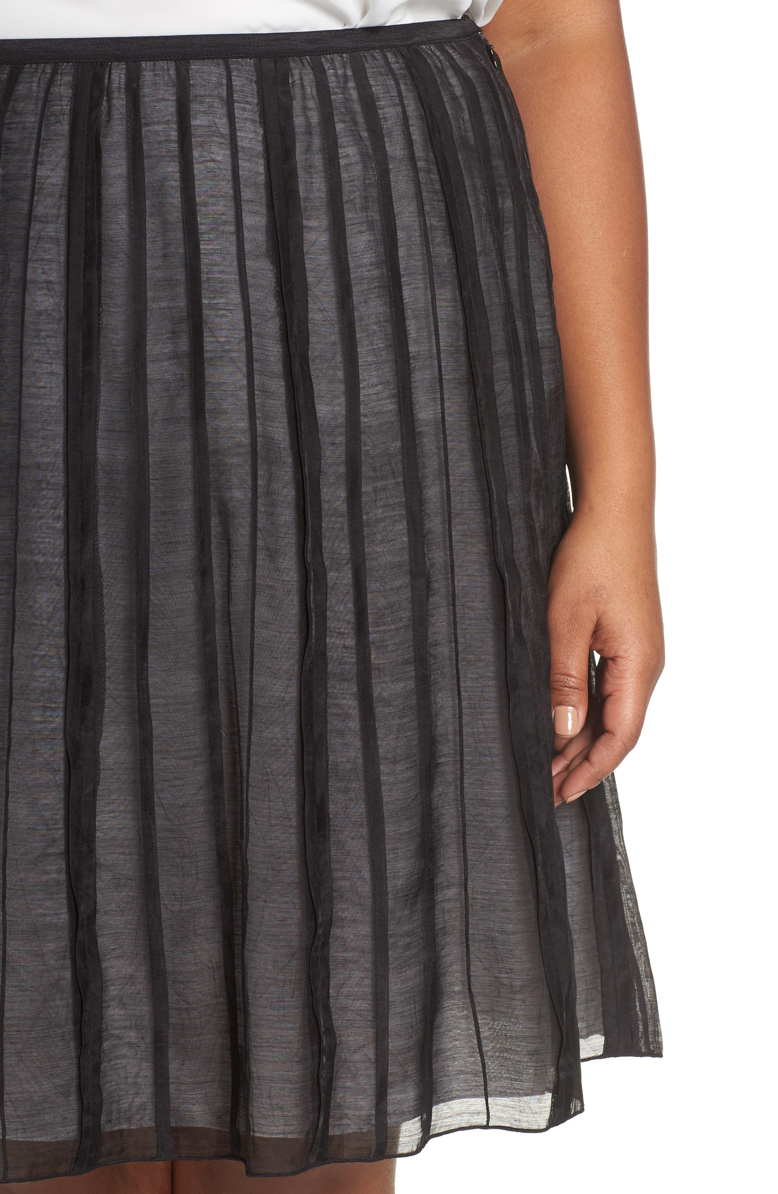 Batiste Flirt Skirt,                             Alternate thumbnail 4, color,                             BLACK ONYX