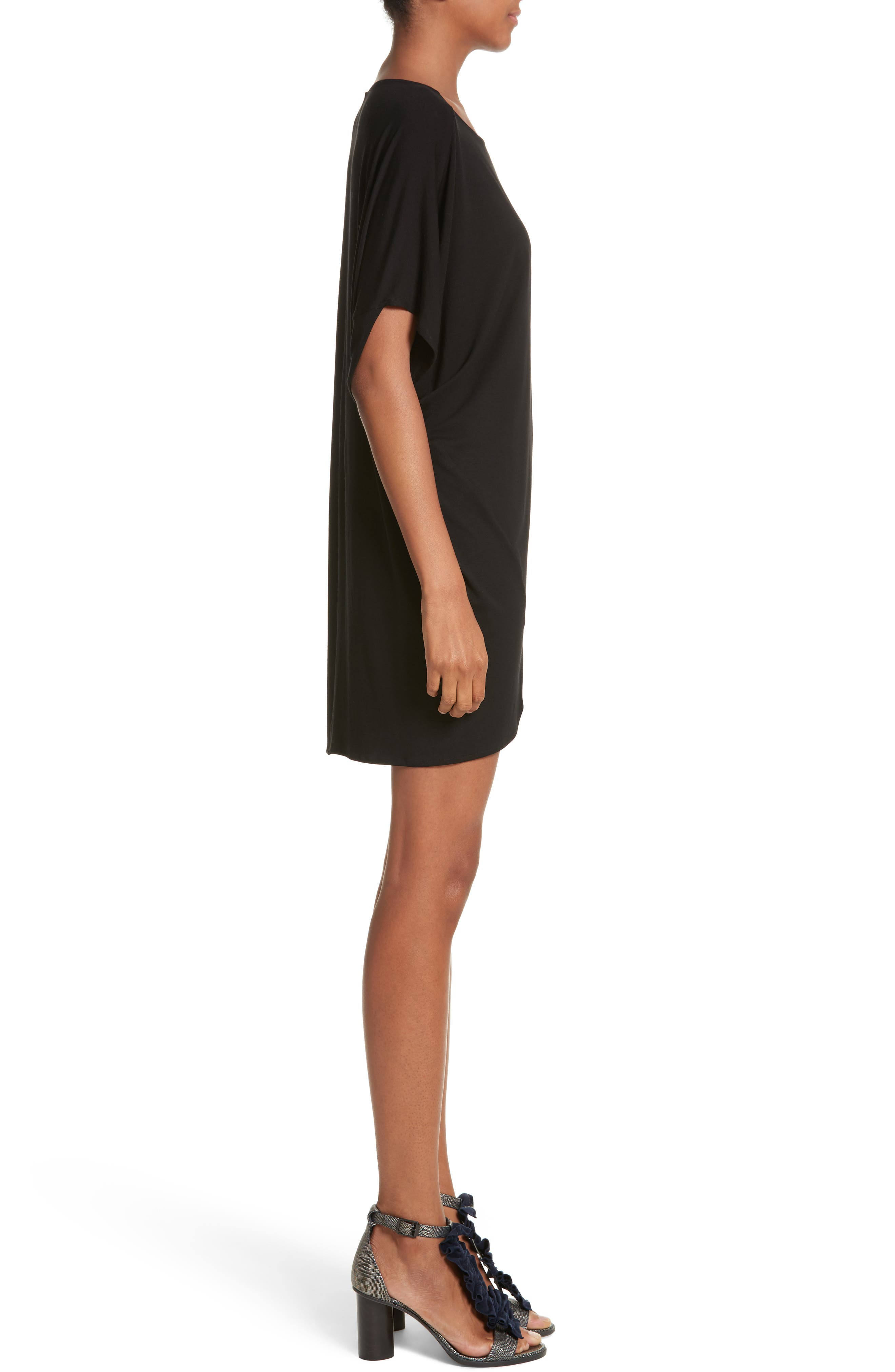Jersey Dress,                             Alternate thumbnail 3, color,                             001