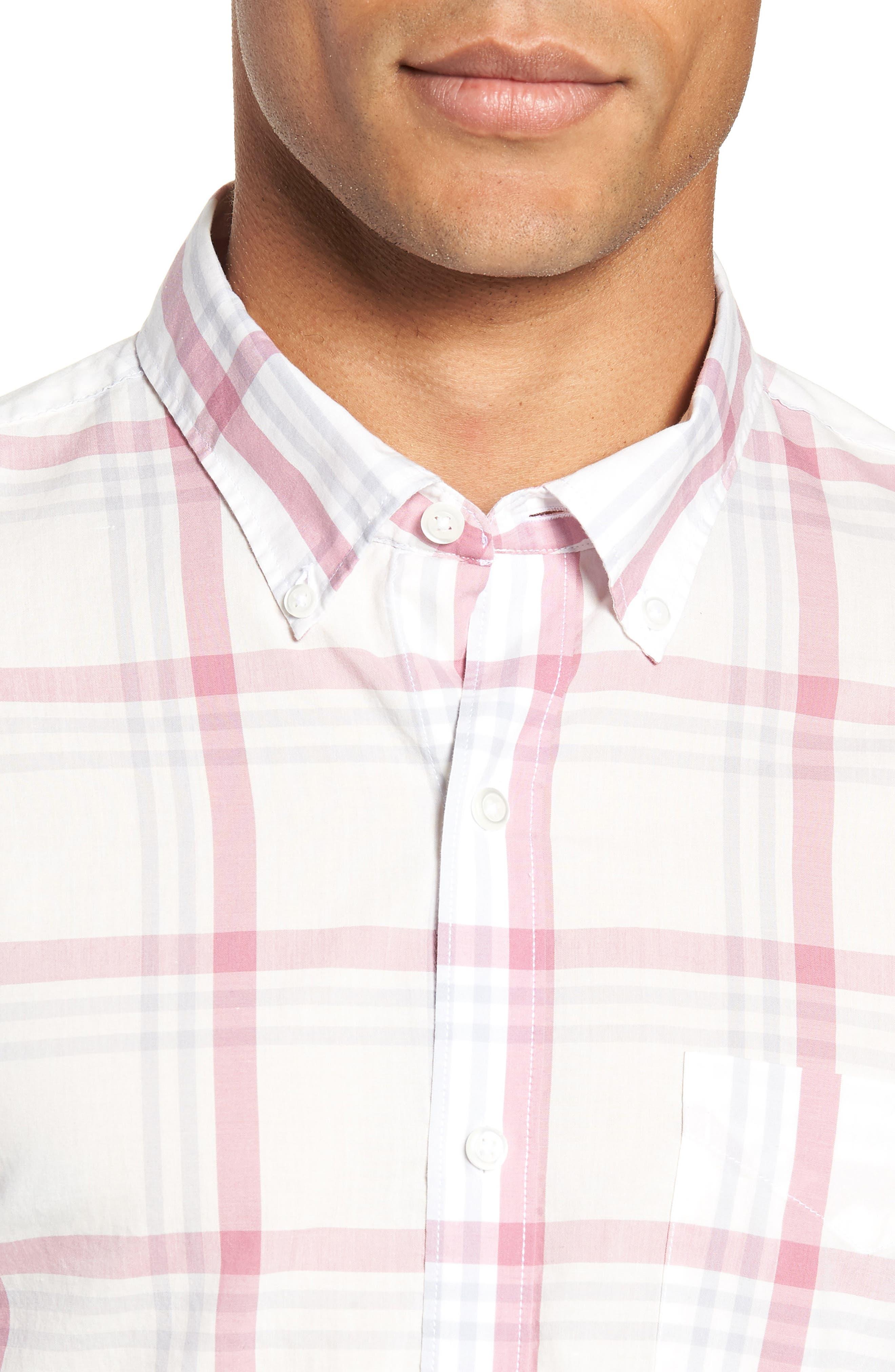 BONOBOS,                             Summerweight Slim Fit Plaid Sport Shirt,                             Alternate thumbnail 2, color,                             100