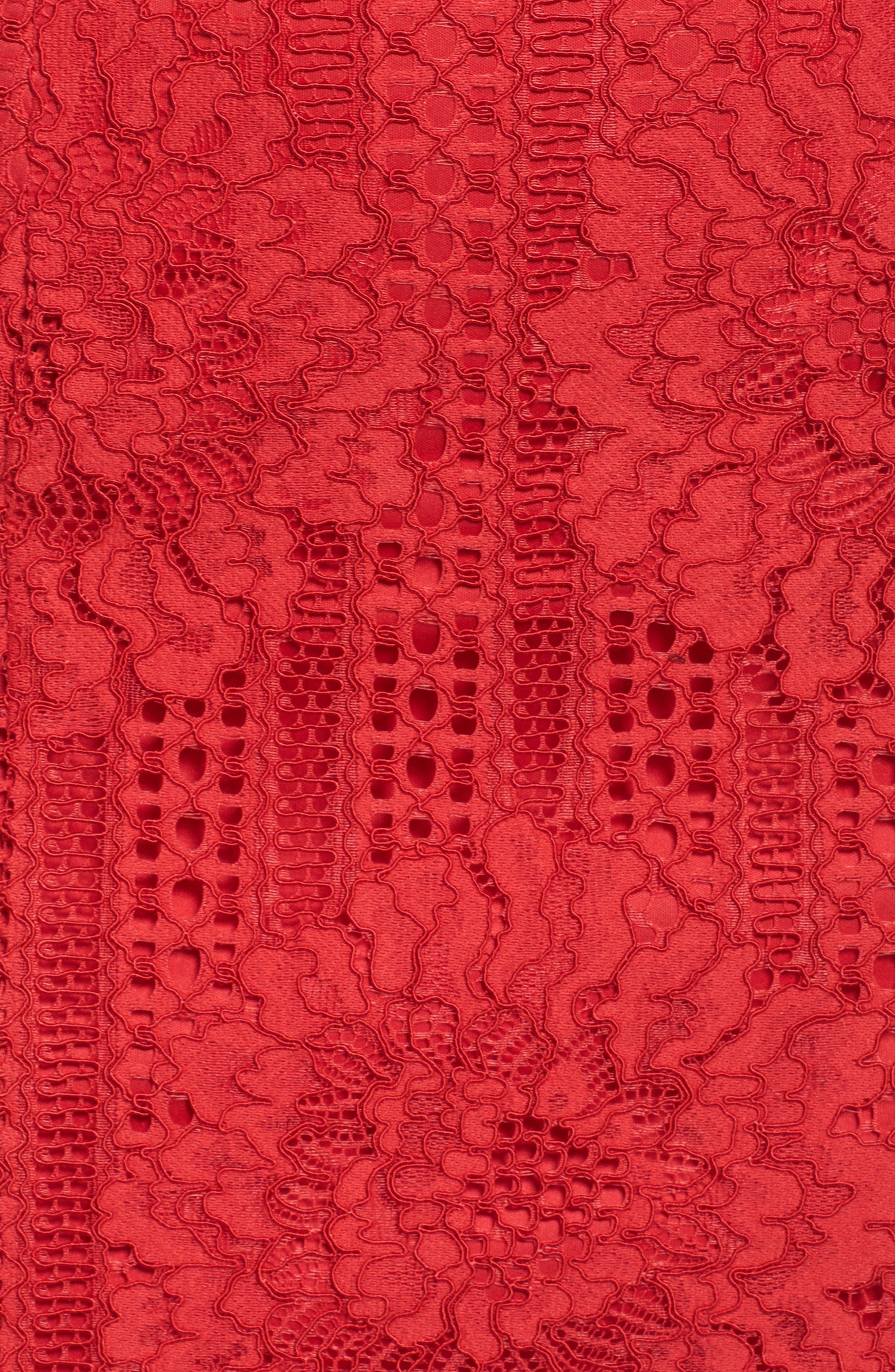 High Neck Stripe Lace Sheath Dress,                             Alternate thumbnail 5, color,                             615