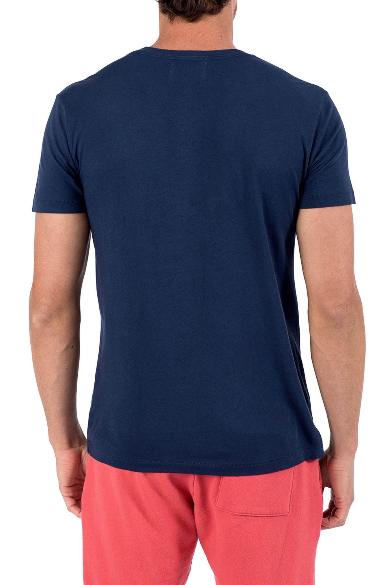 Americana Waves T-Shirt,                             Alternate thumbnail 2, color,                             INDIGO