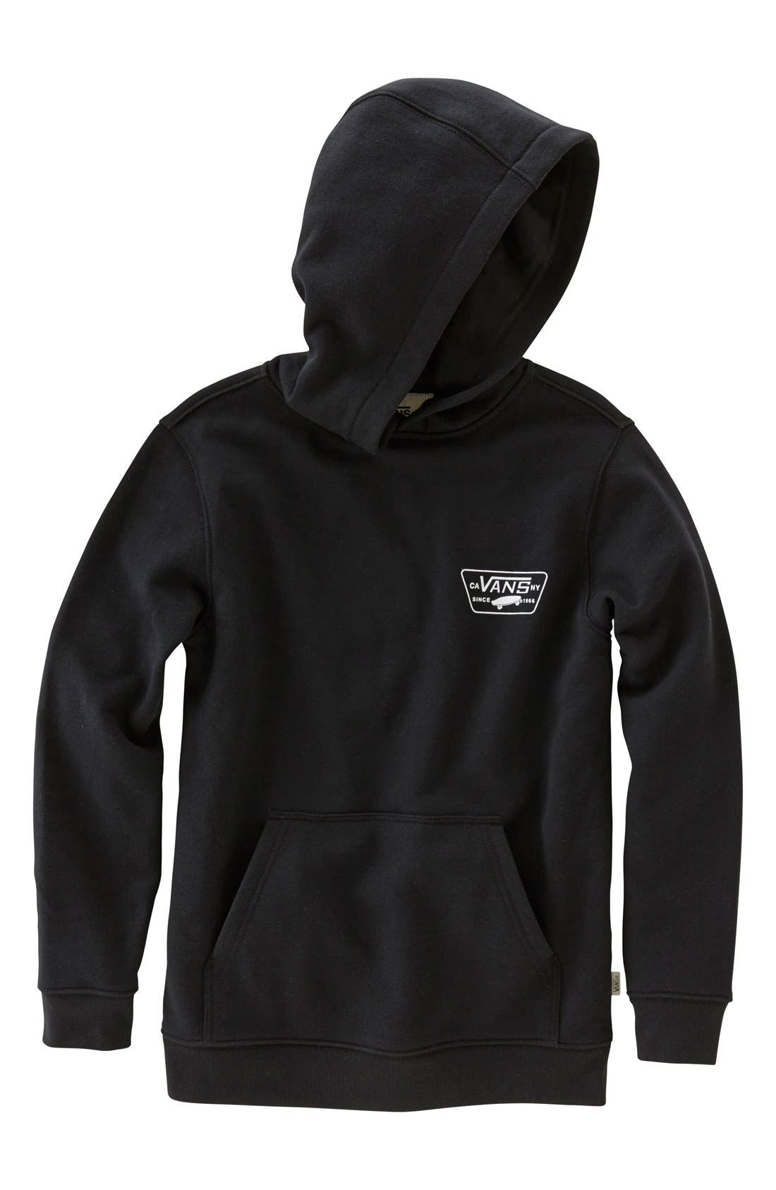 'Full Patched' Fleece Hoodie,                             Main thumbnail 3, color,