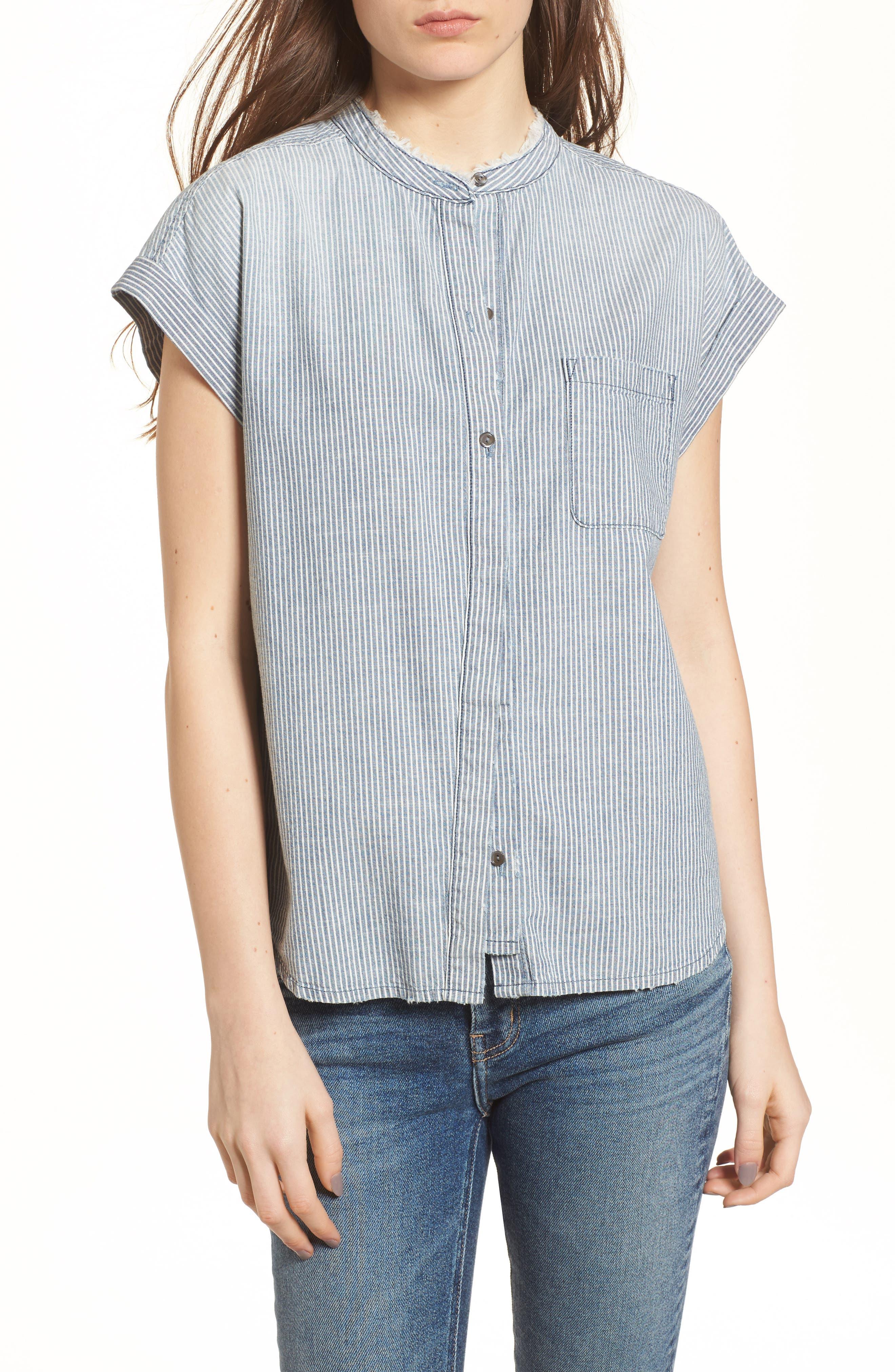 The Liza Engineer Stripe Shirt,                             Main thumbnail 1, color,                             LOFT