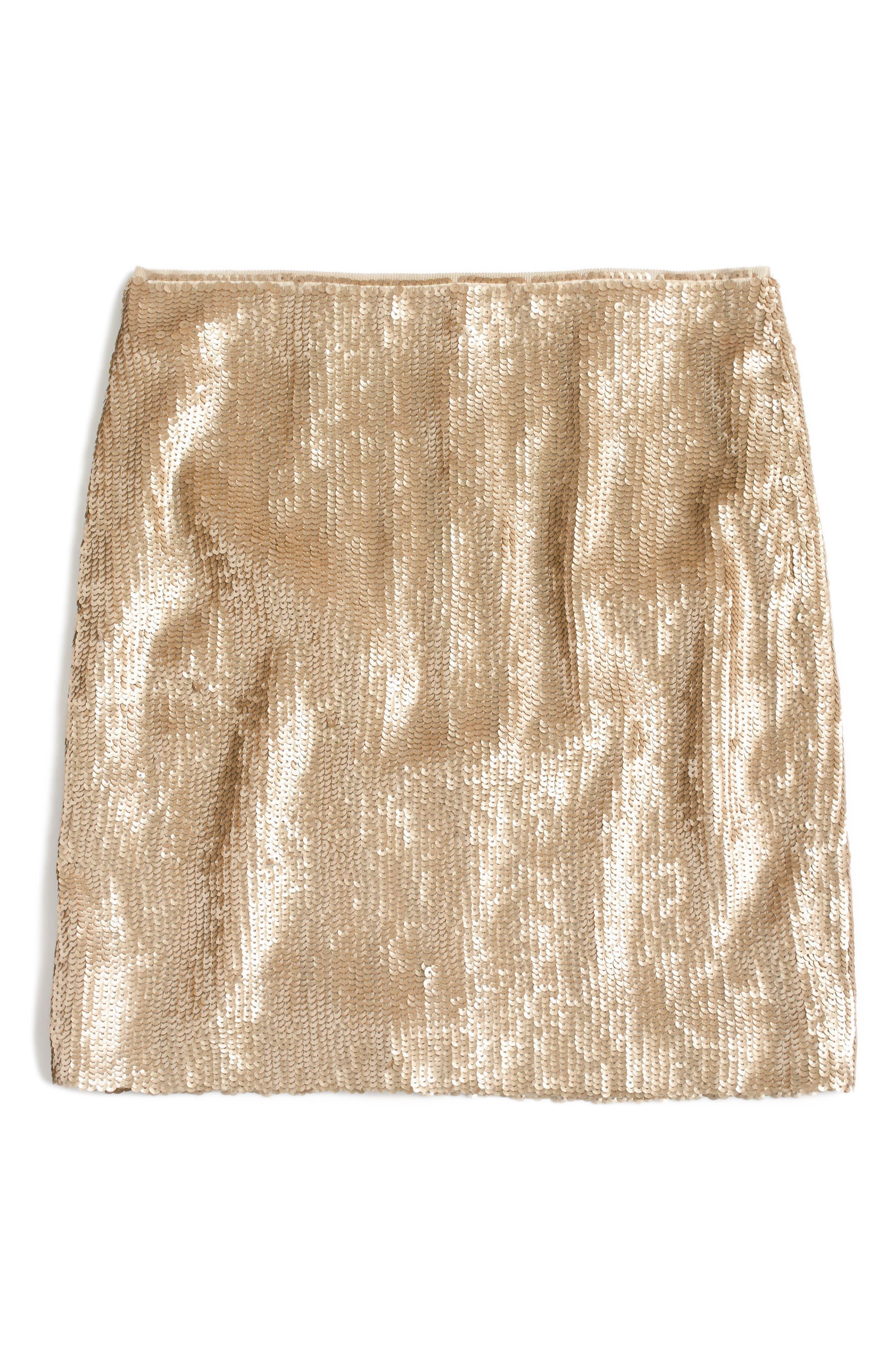 Sequin Miniskirt,                             Alternate thumbnail 3, color,