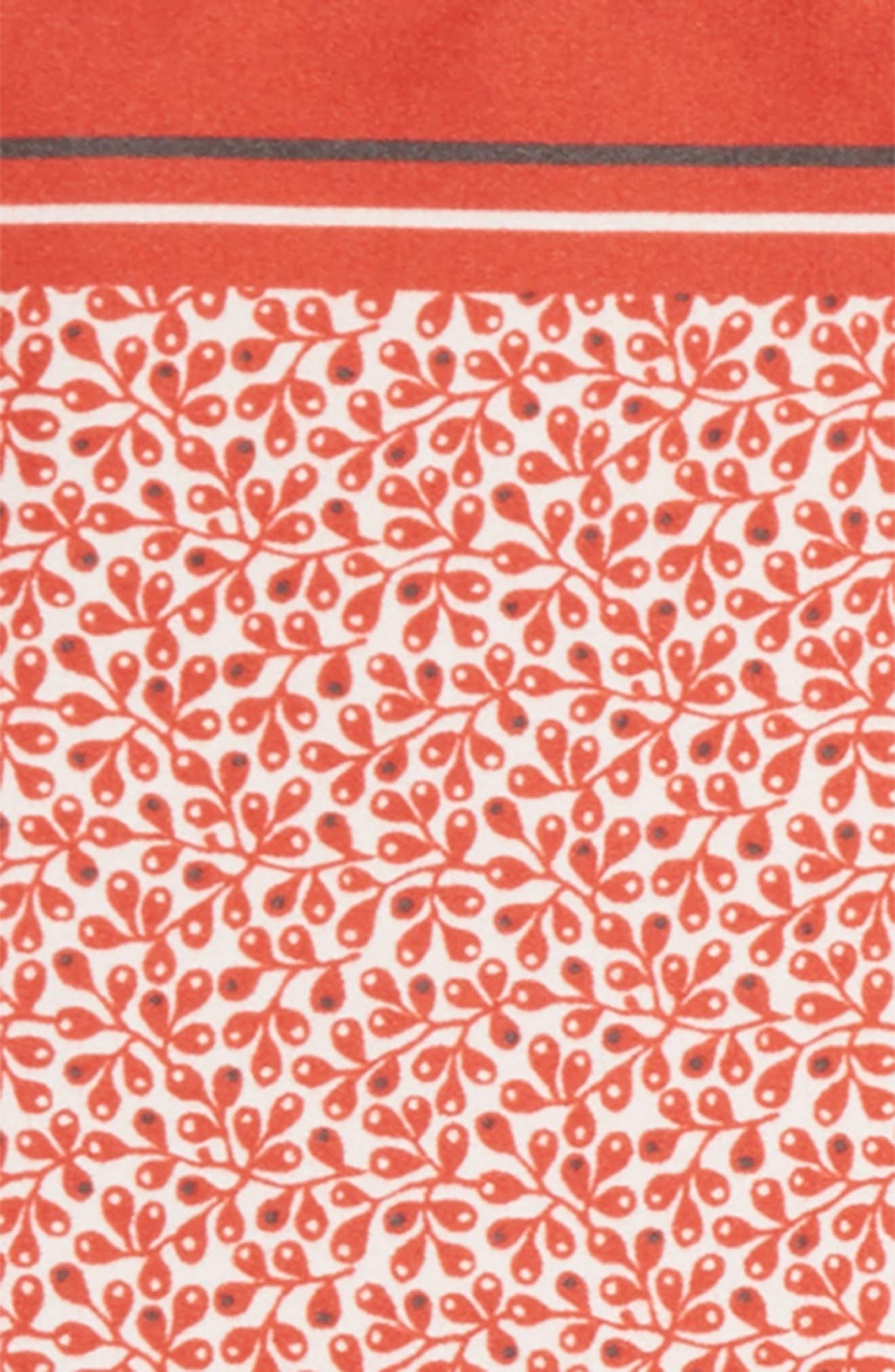 Floral Silk Pocket Square,                             Alternate thumbnail 6, color,