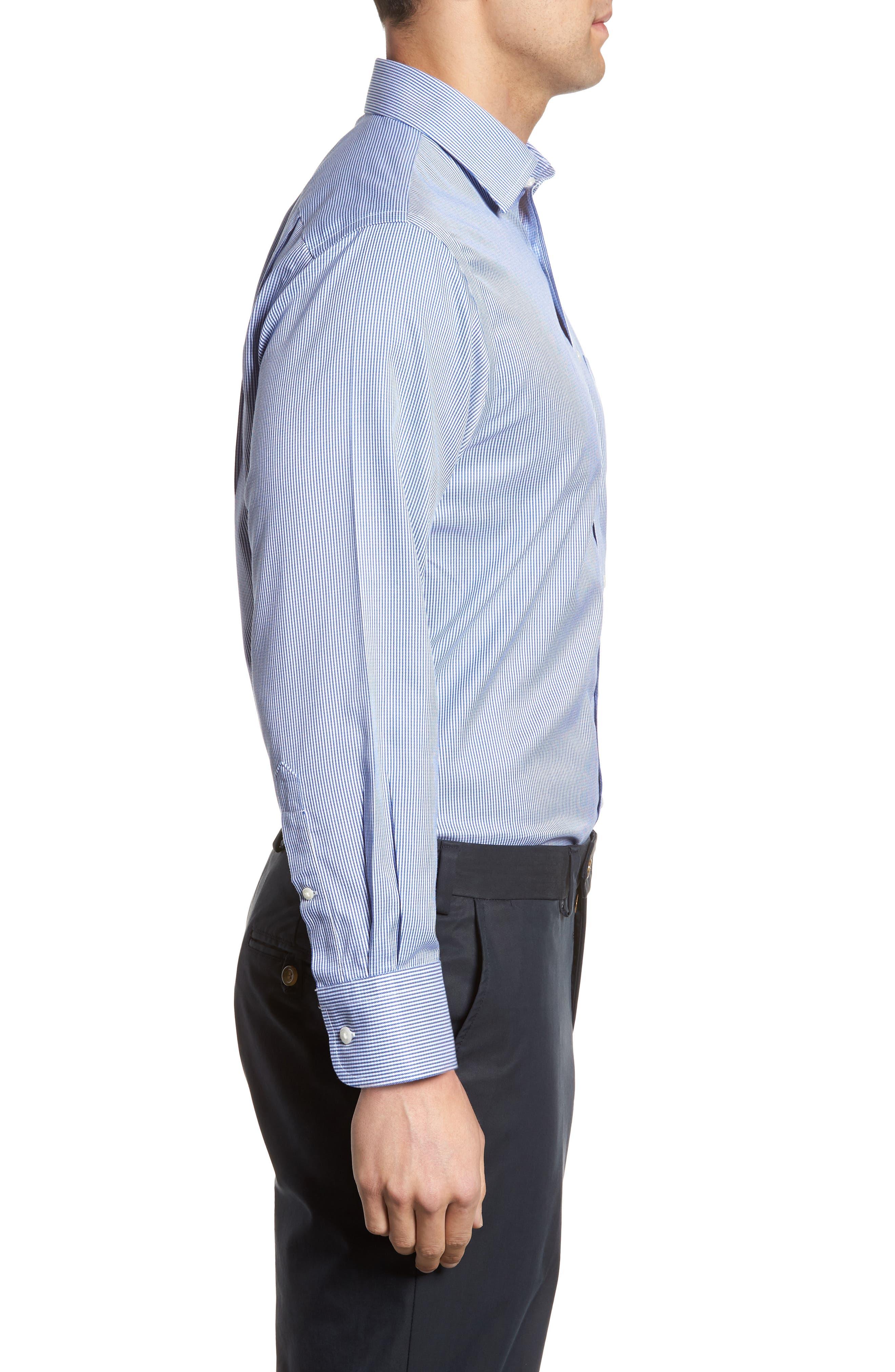 Smartcare<sup>™</sup> Traditional Fit Stripe Dress Shirt,                             Alternate thumbnail 11, color,