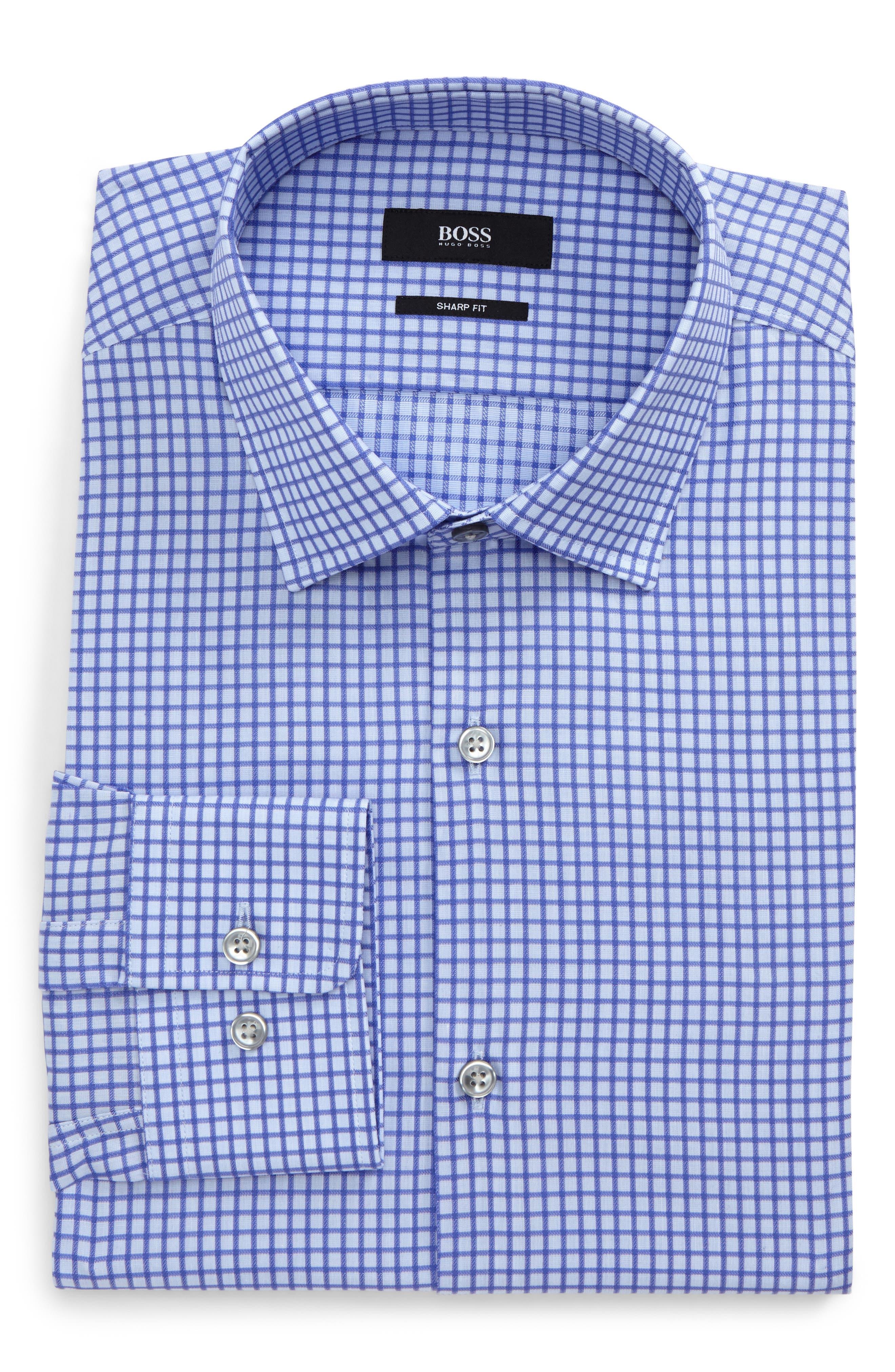 Marley Sharp Fit Check Dress Shirt,                         Main,                         color,
