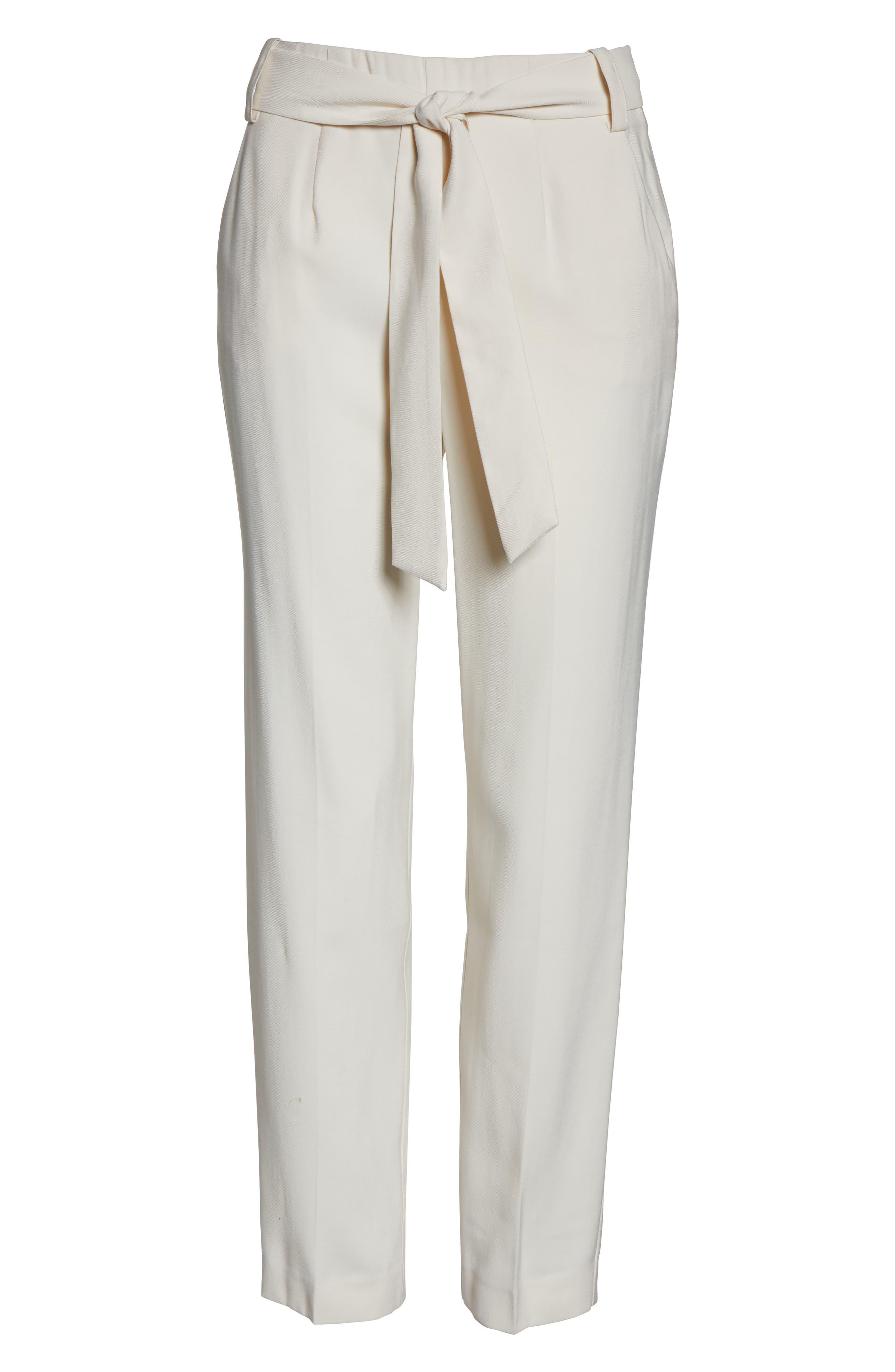 1.STATE,                             Flat Front Tie Waist Slim Pants,                             Alternate thumbnail 3, color,                             116