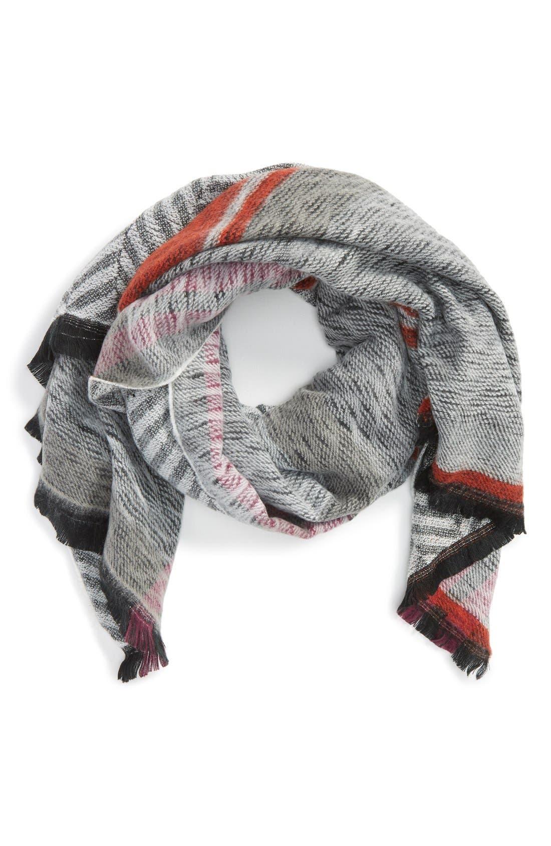 Reversible Blanket Scarf,                             Main thumbnail 1, color,                             001