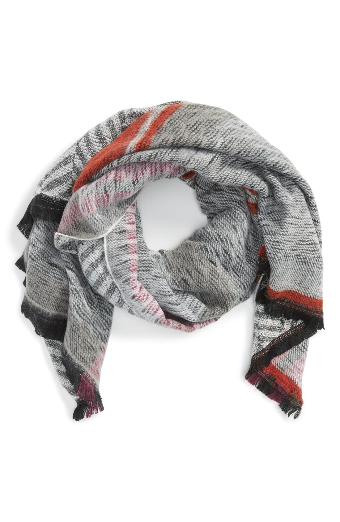 Reversible Blanket Scarf, Main, color, 001