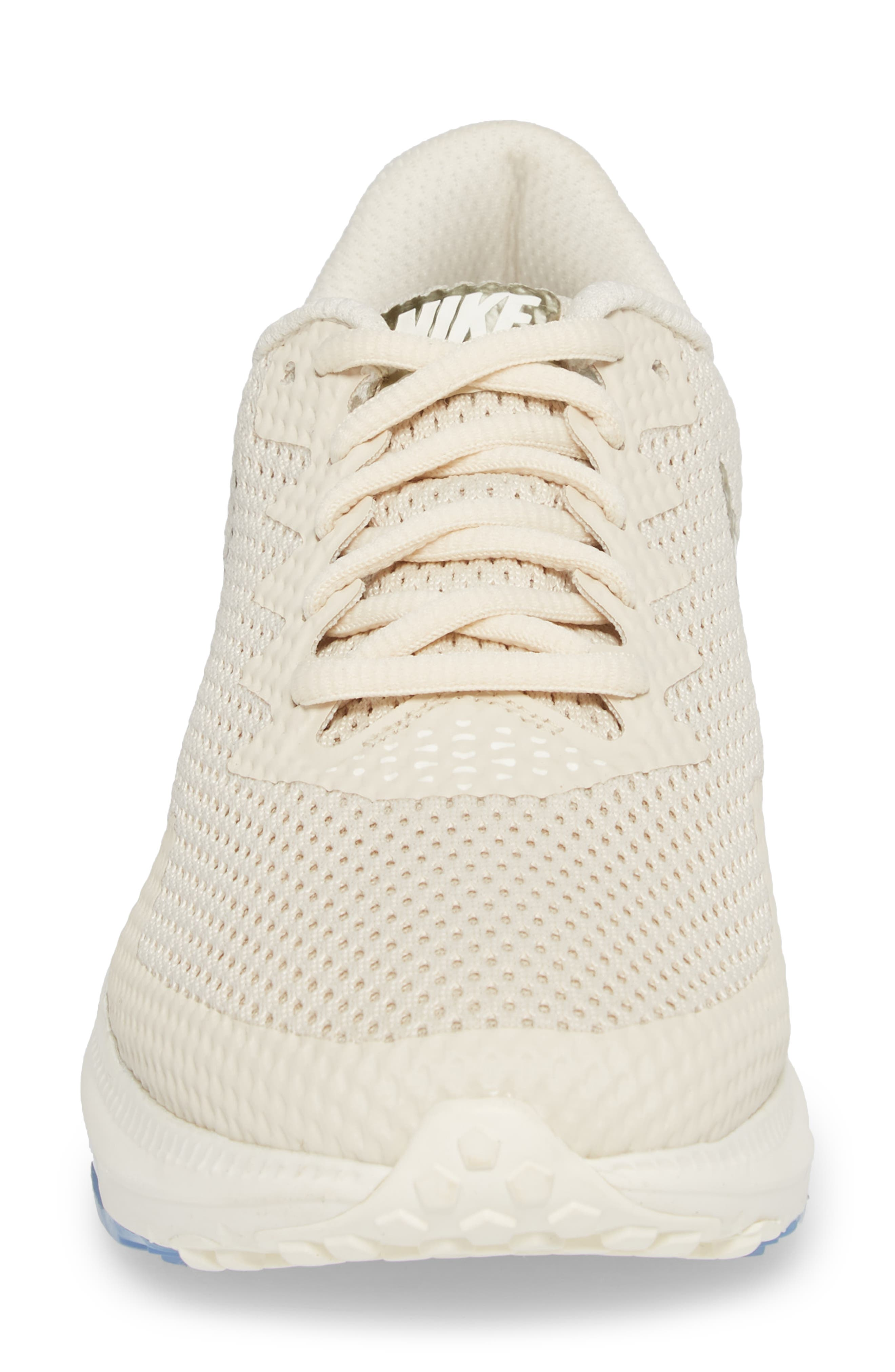 Zoom All Out Low 2 Running Shoe,                             Alternate thumbnail 4, color,                             LIGHT CREAM/ SAIL