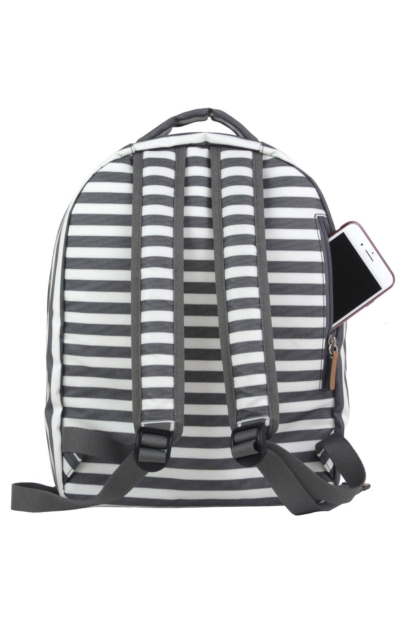 Mini-Go Water Resistant Diaper Backpack,                             Alternate thumbnail 2, color,                             STRIPE