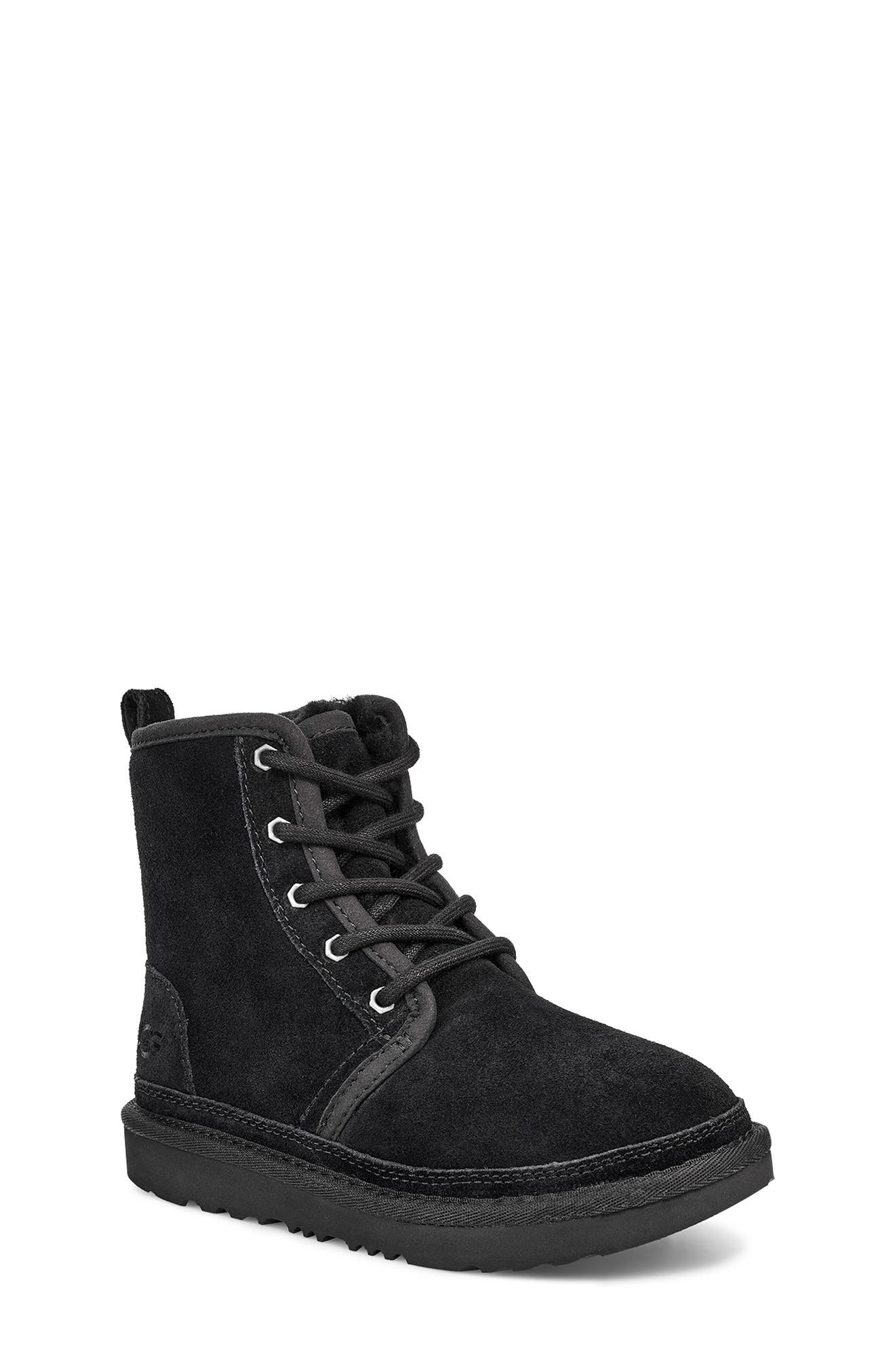 Boys Ugg Harkley LaceUp Boot Size 5 M  Black
