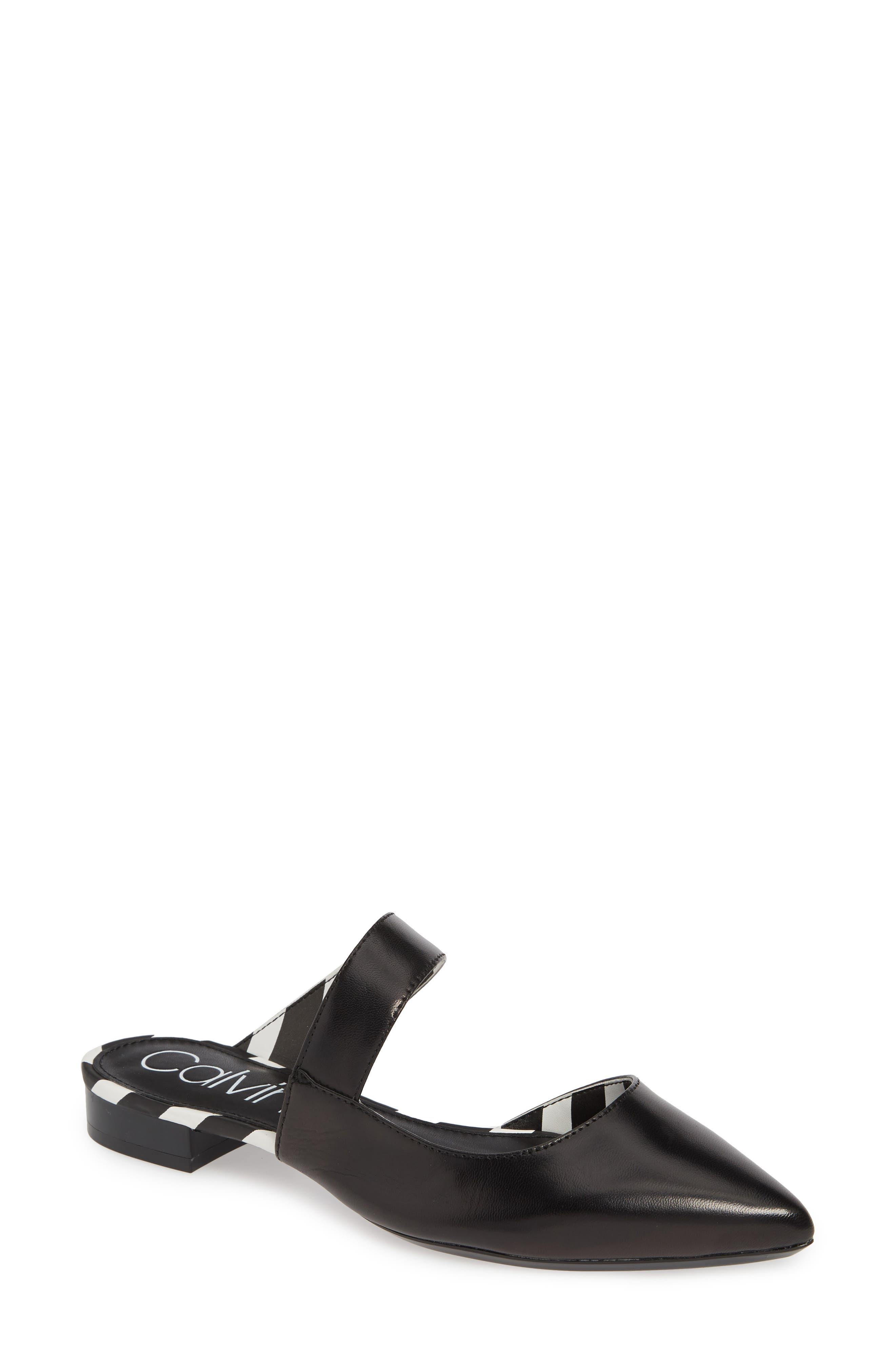 ddf635658be Calvin Klein Arleys Asymmetrical Pointy Toe Mule- Black