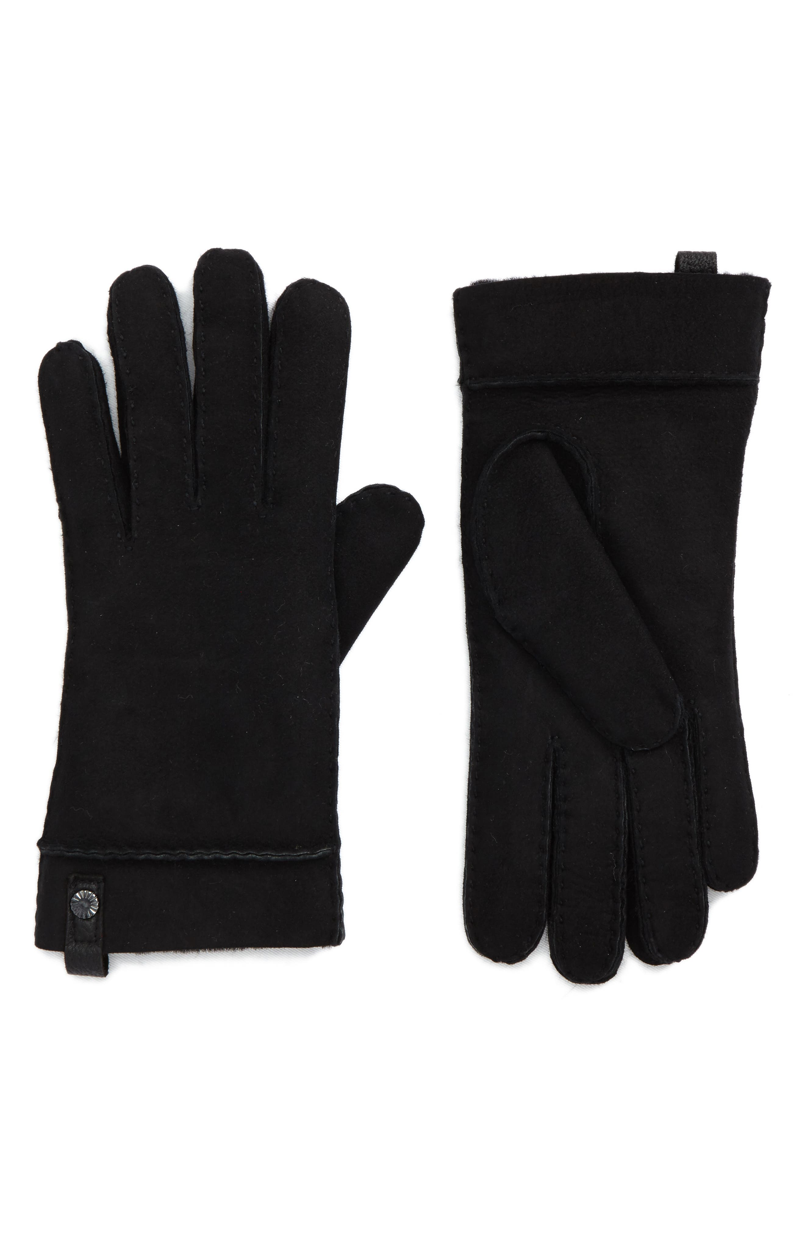 Tenney Genuine Shearling Gloves,                             Main thumbnail 1, color,