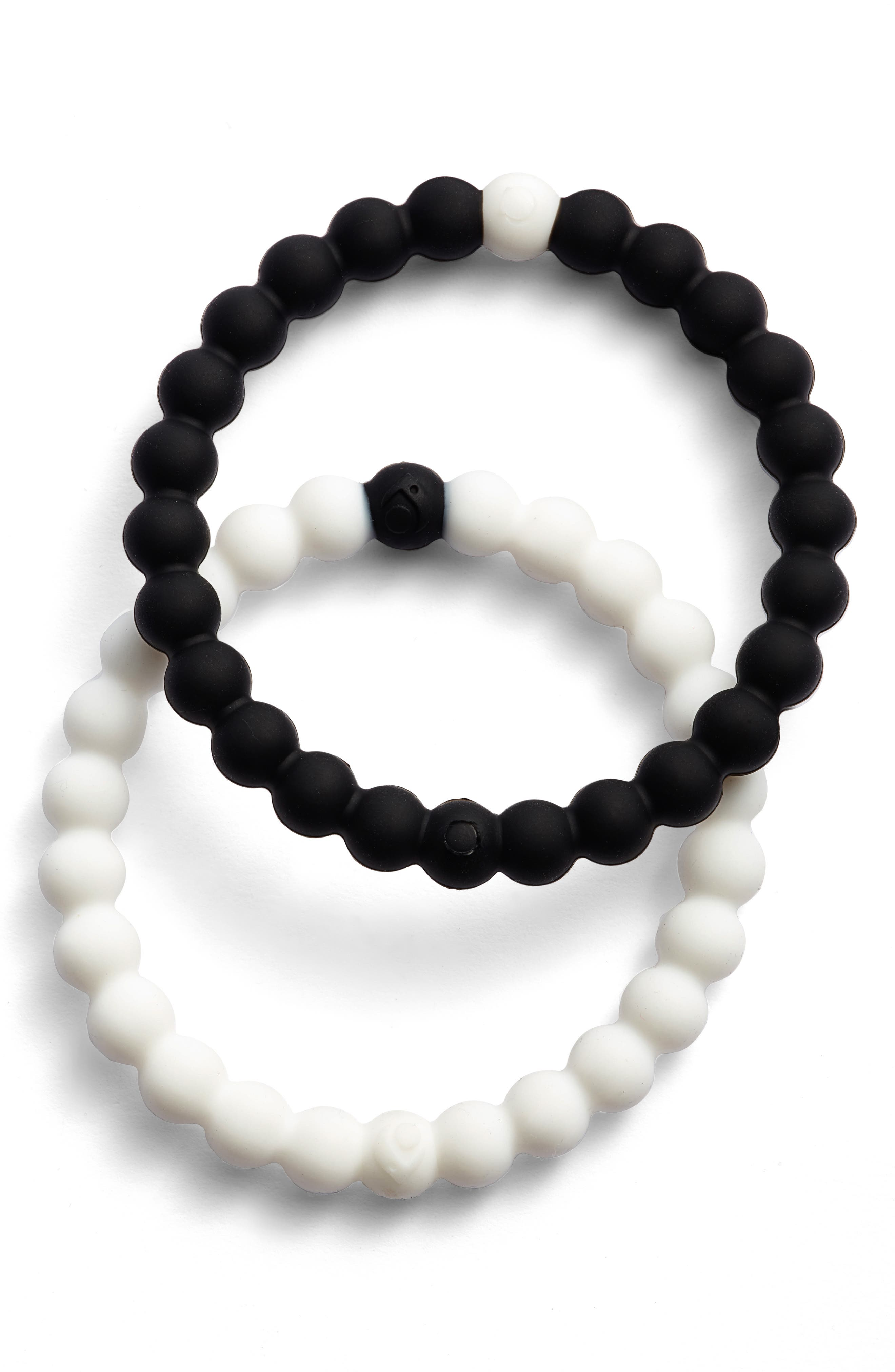 Choose Your Cause Set of 2 Black & White Bracelets,                         Main,                         color, 001