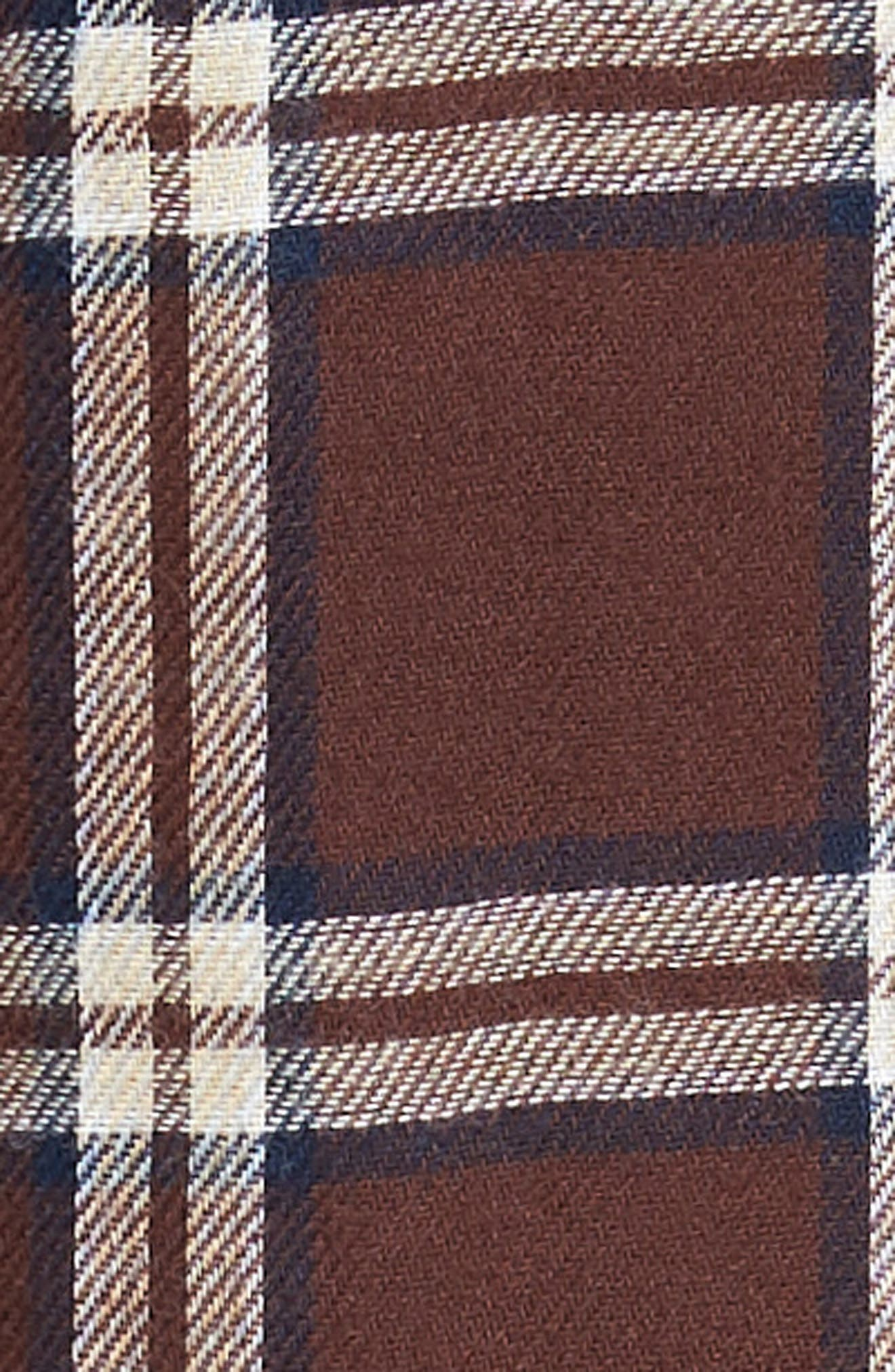 Grant Pajama Set,                             Alternate thumbnail 5, color,                             PORT/ GREY HEATHER