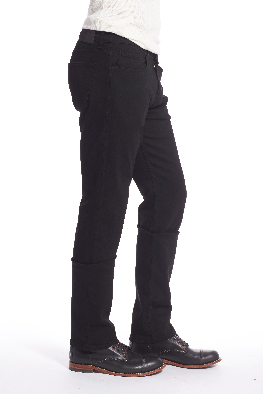 Transcend - Lennox Slim Fit Jeans,                             Alternate thumbnail 6, color,                             BLACK SHADOW