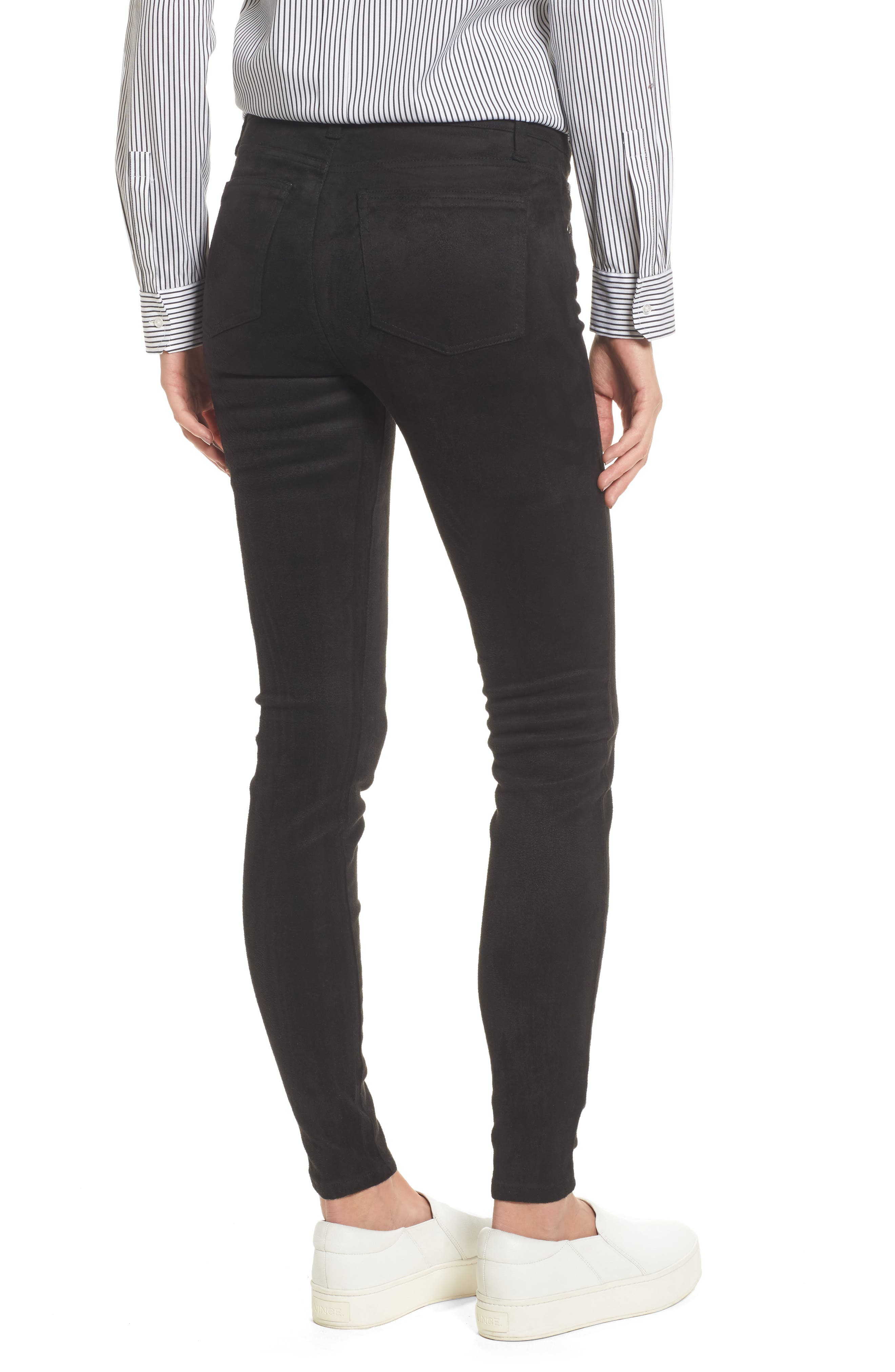 Mia Faux Suede Skinny Jeans,                             Alternate thumbnail 2, color,                             002