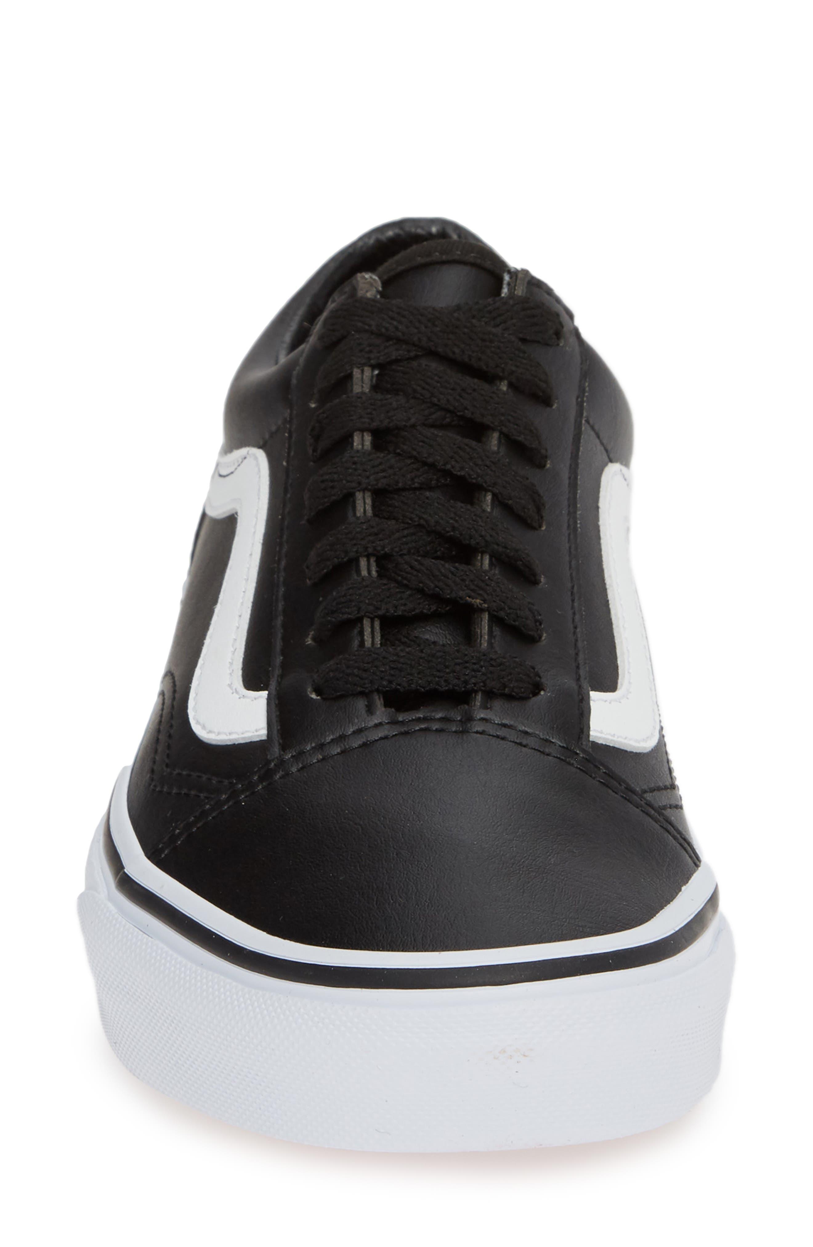 Old Skool Tumble Sneaker,                             Alternate thumbnail 4, color,                             BLACK/ TRUE WHITE