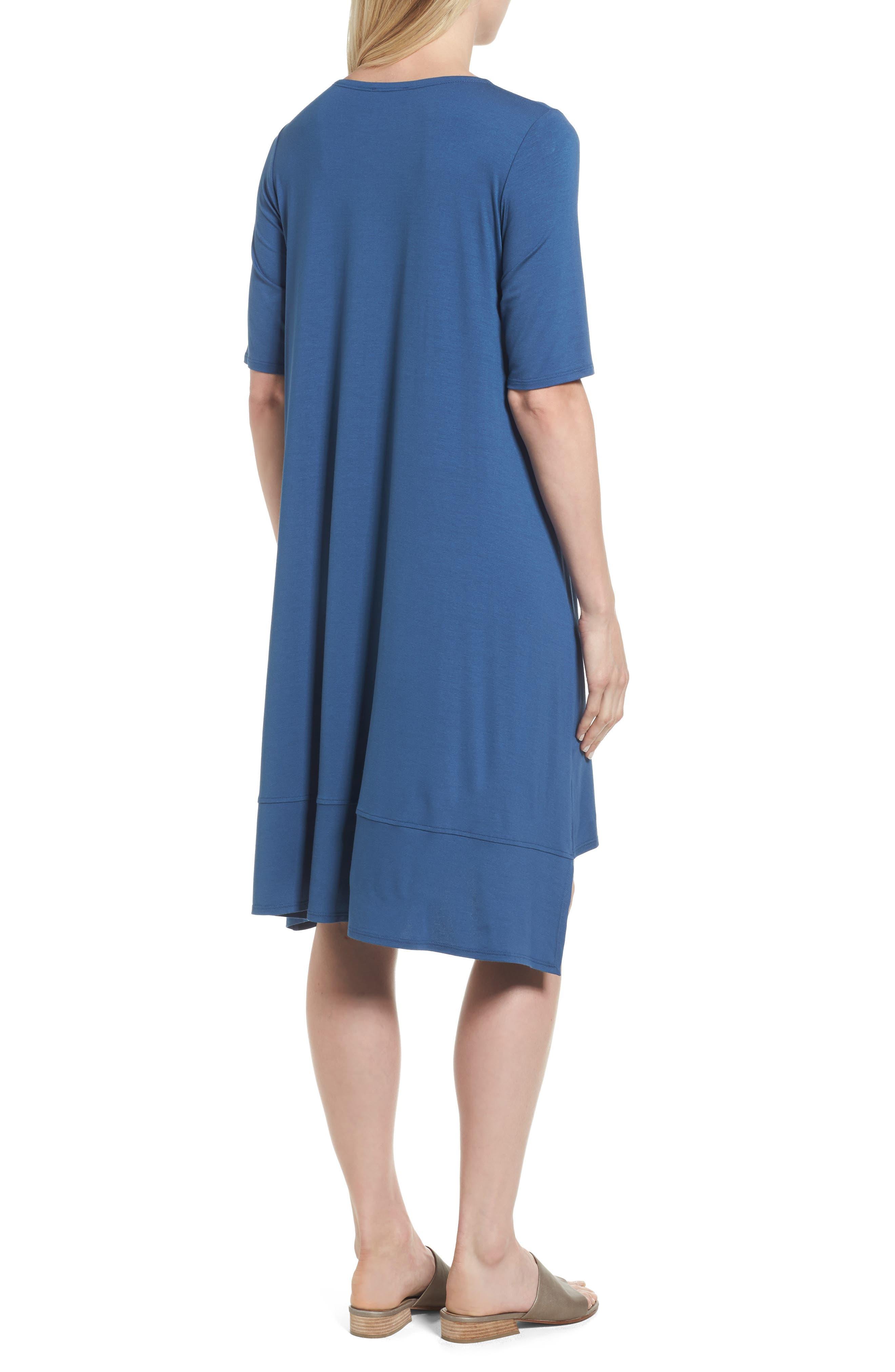 Jersey Asymmetrical A-Line Dress,                             Alternate thumbnail 9, color,