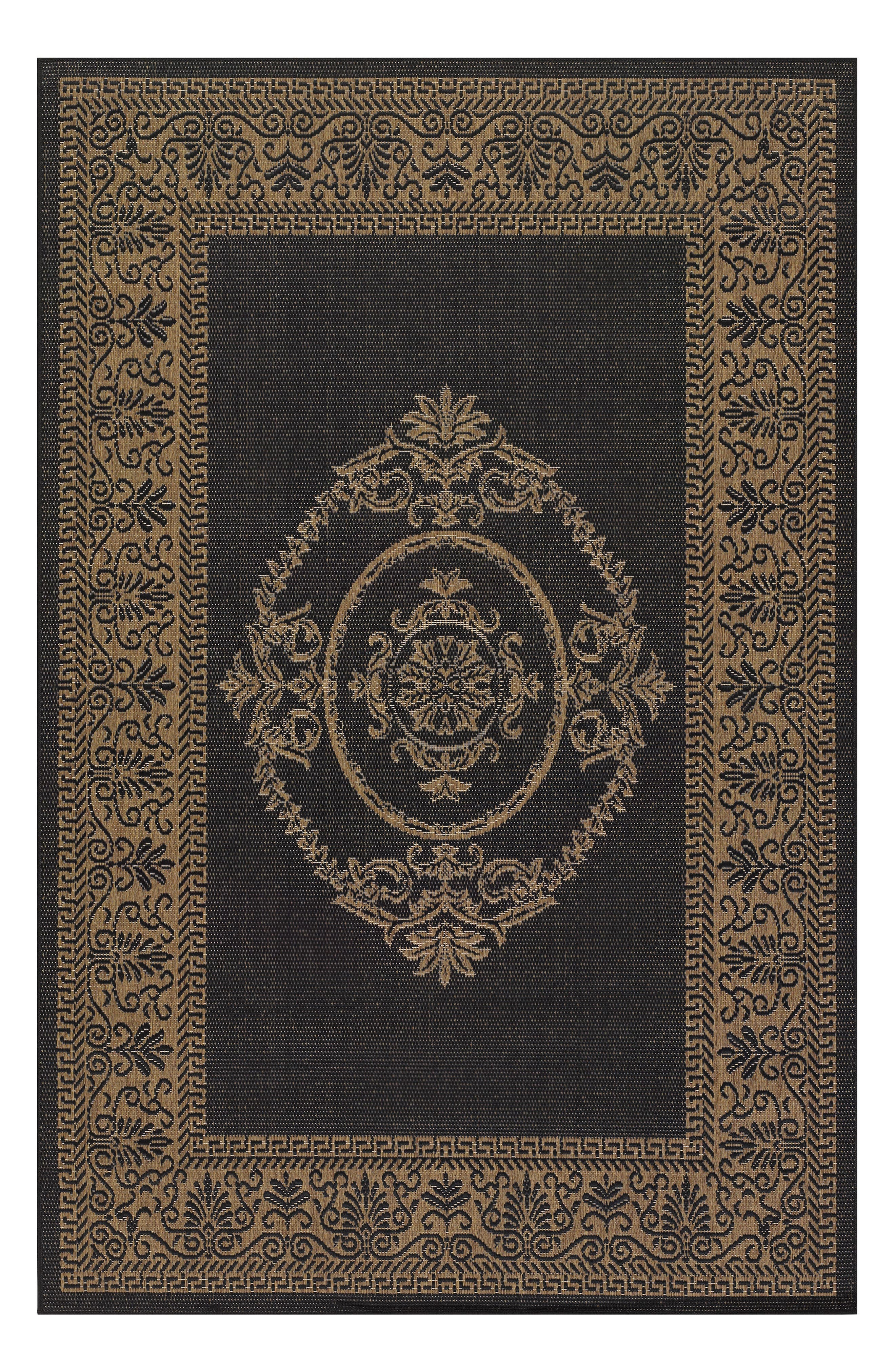 Antique Medallion Indoor/Outdoor Rug,                             Main thumbnail 1, color,                             001