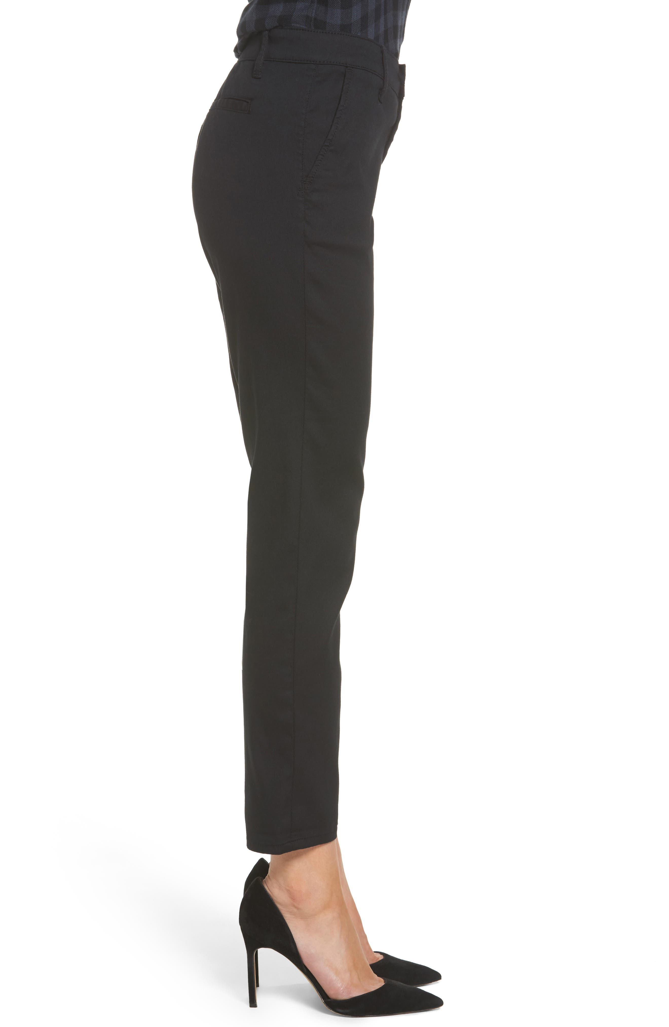 The Caden Crop Slim Trousers,                             Alternate thumbnail 3, color,                             010